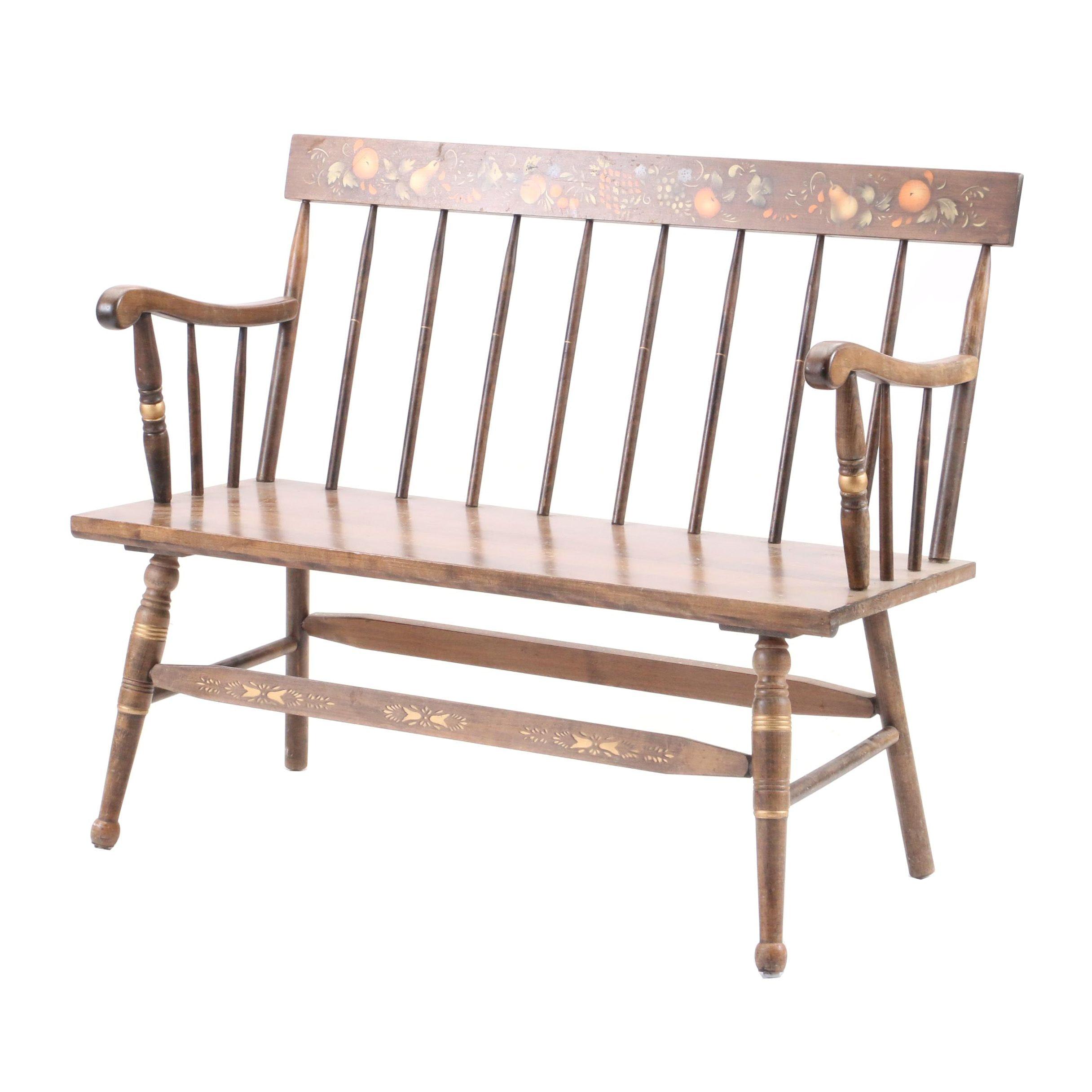 Vintage Stencilled Bench