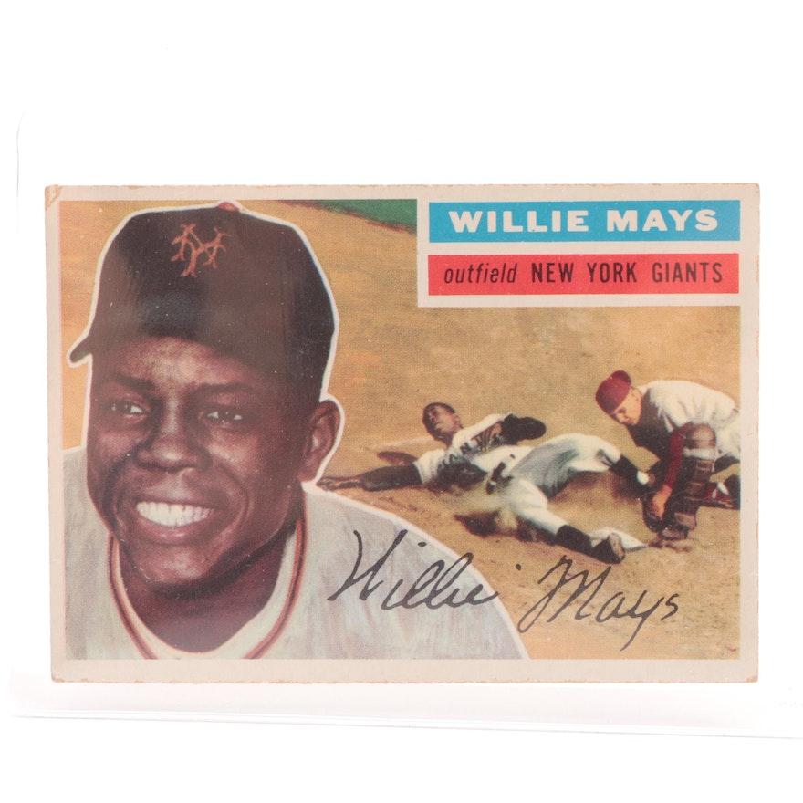 1956 Willie Mays New York Giants Topps Baseball Card