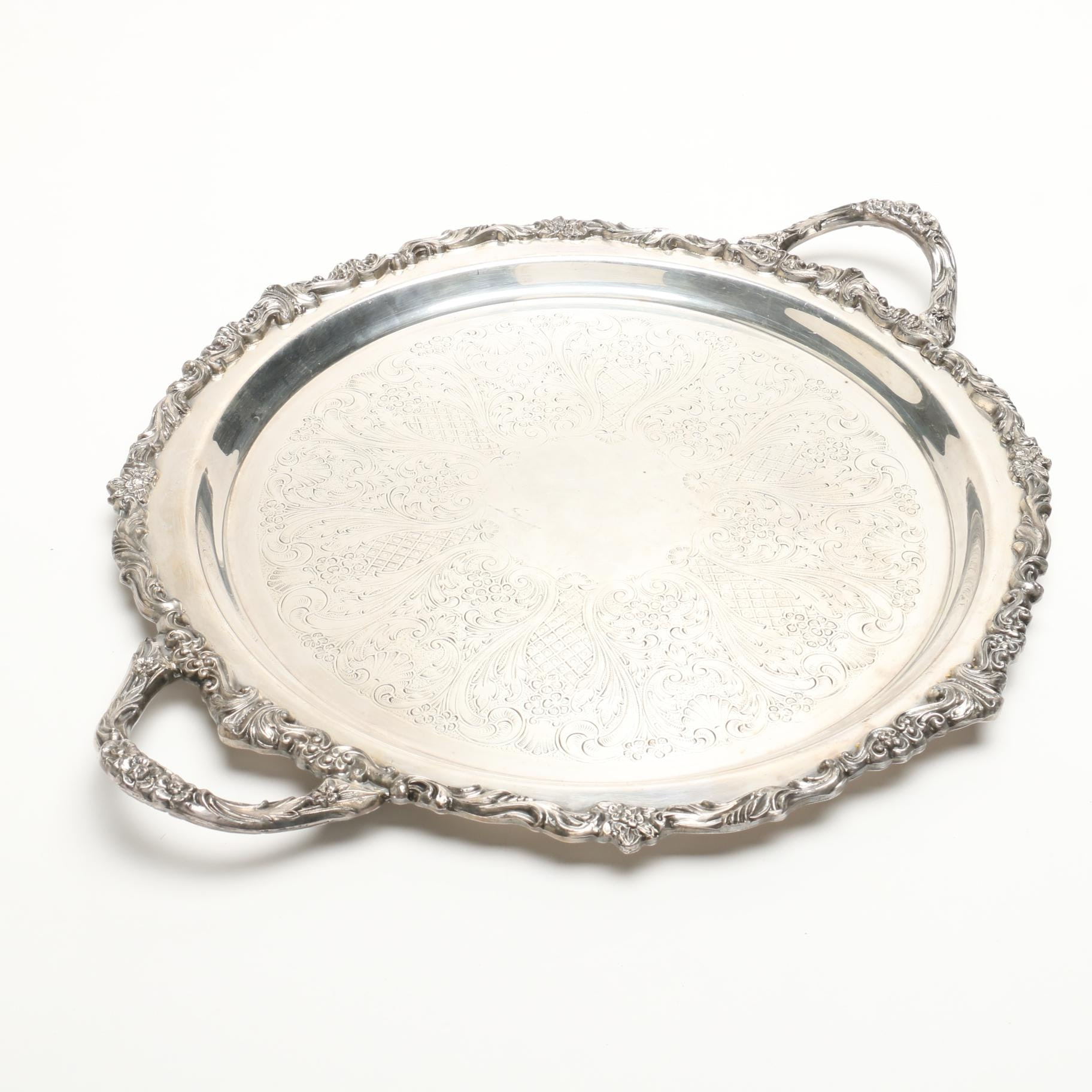 Sheridan Silver Plate Tray with Handles
