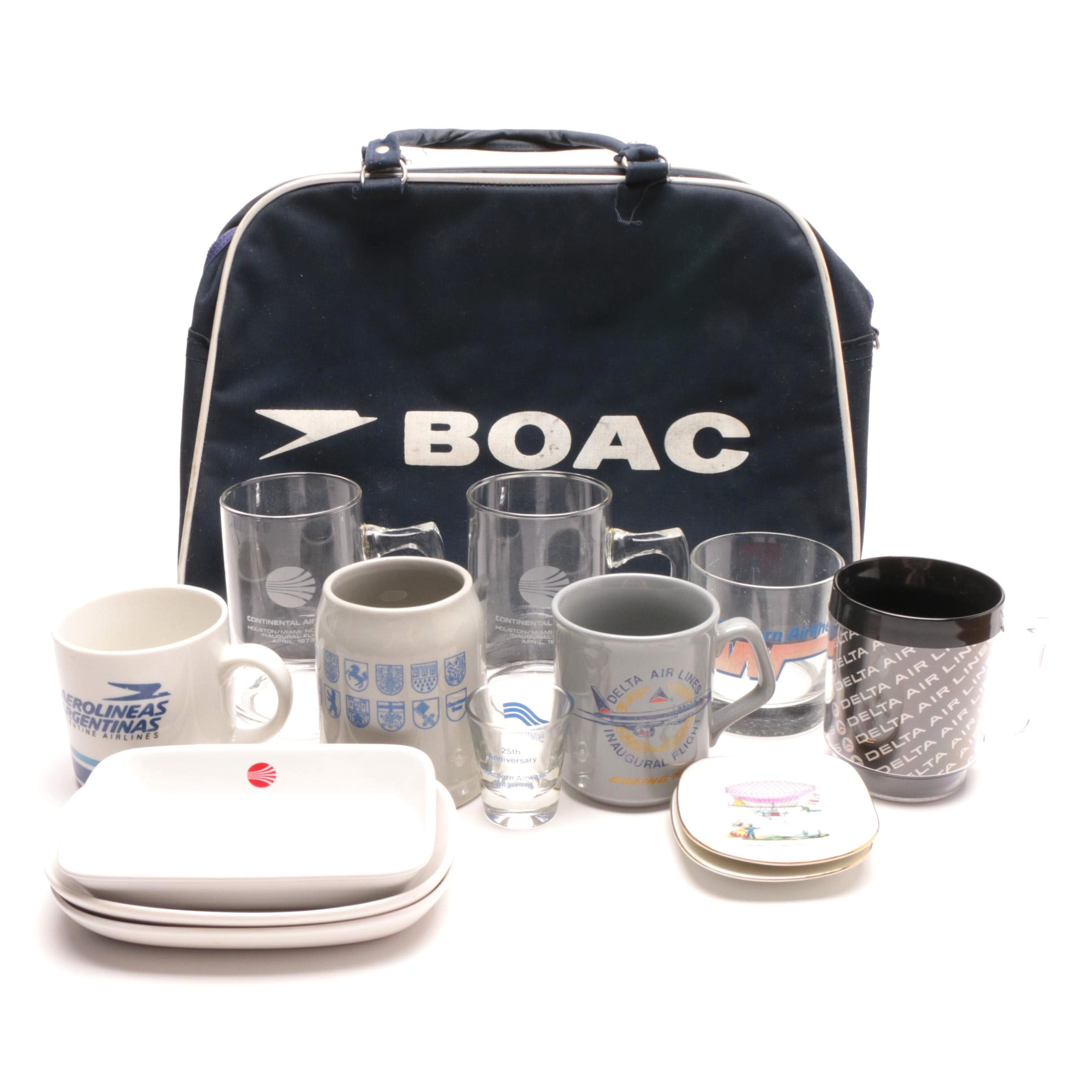 Vintage Airline Collectibles Featuring BOAC