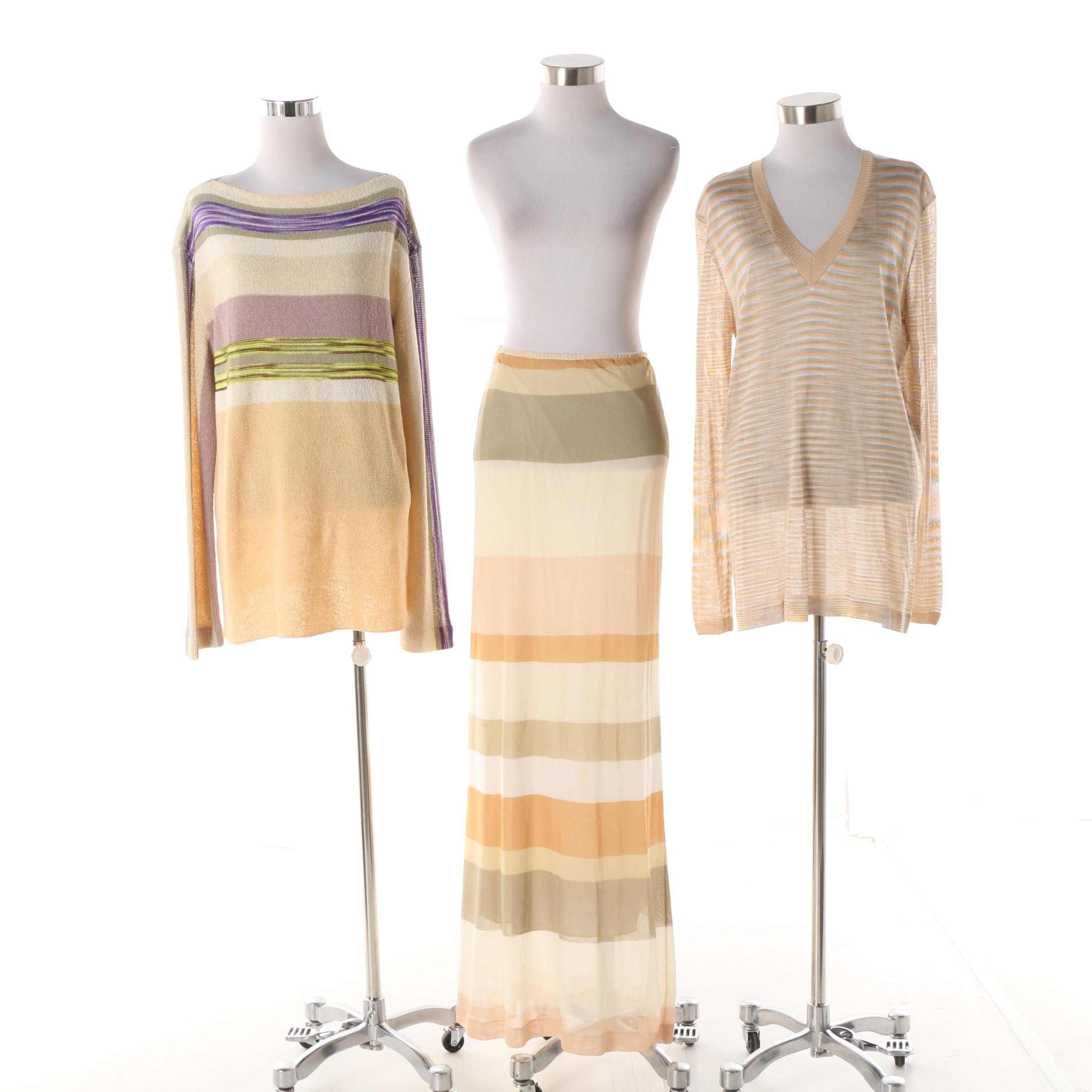Women's Missoni Knit Tops and Skirt