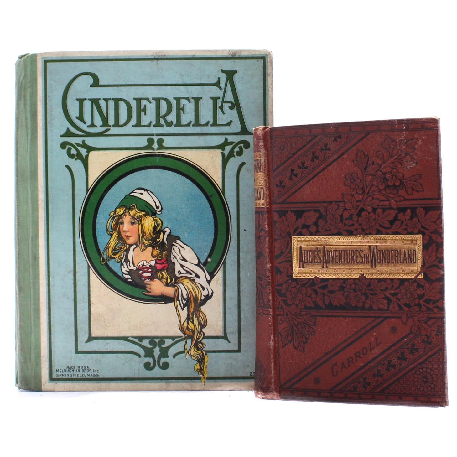 19th Century Alice in Wonderland and Cinderella Books