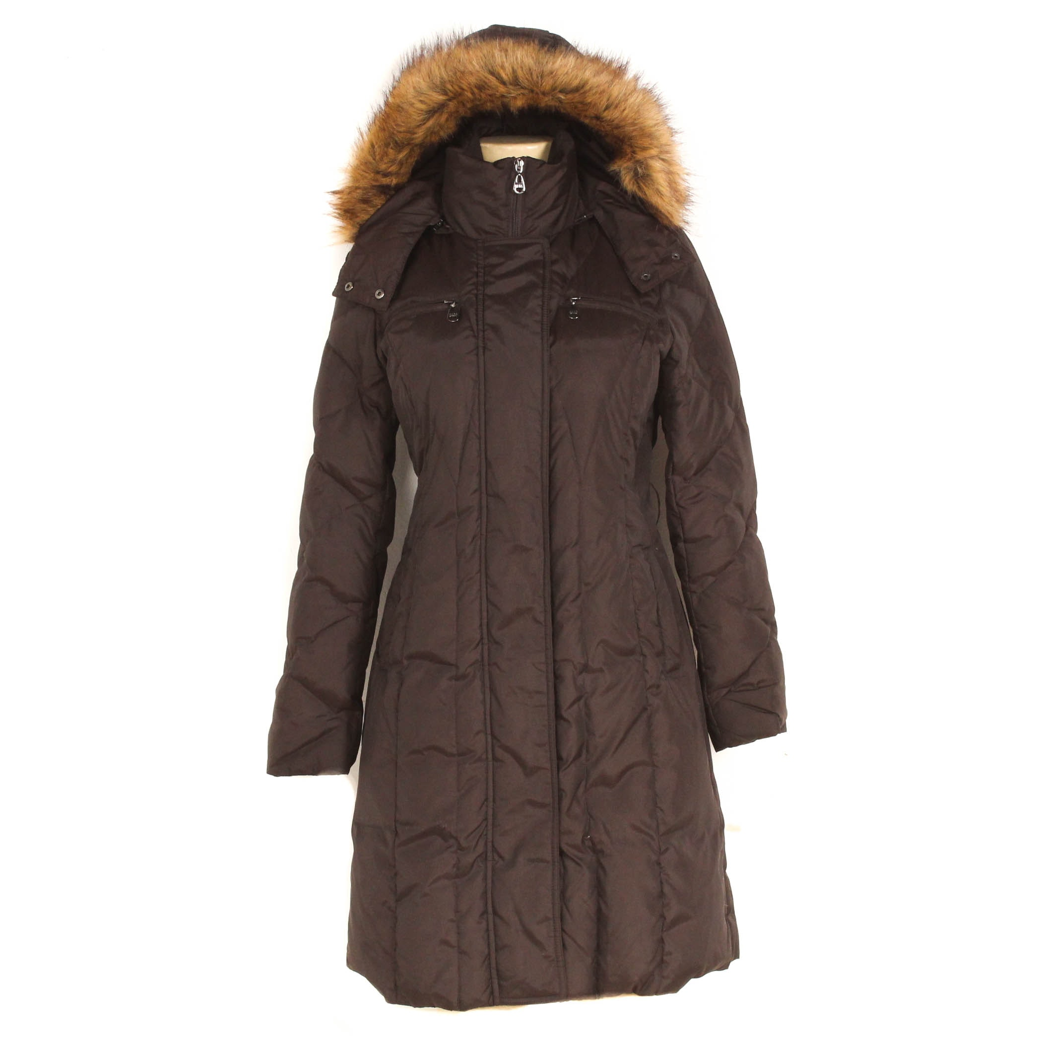 Marc New York by Andrew Marc Down Filled Brown Puffer Coat