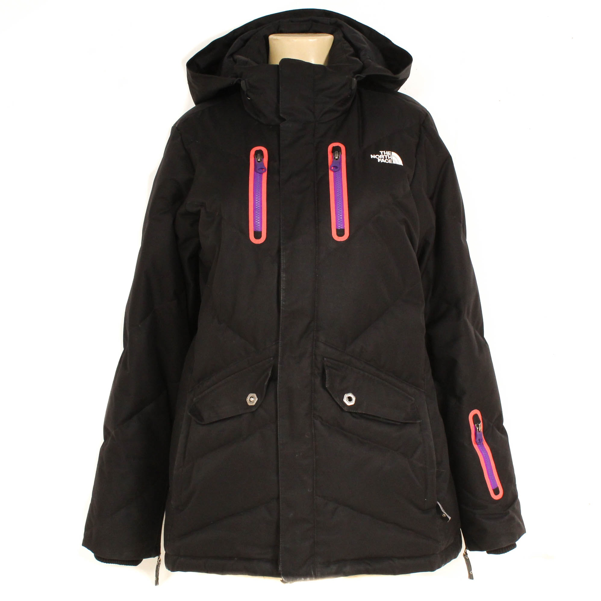 The North Face Cryptic Artic Parka 600 Down-Filled Black Puffer Coat