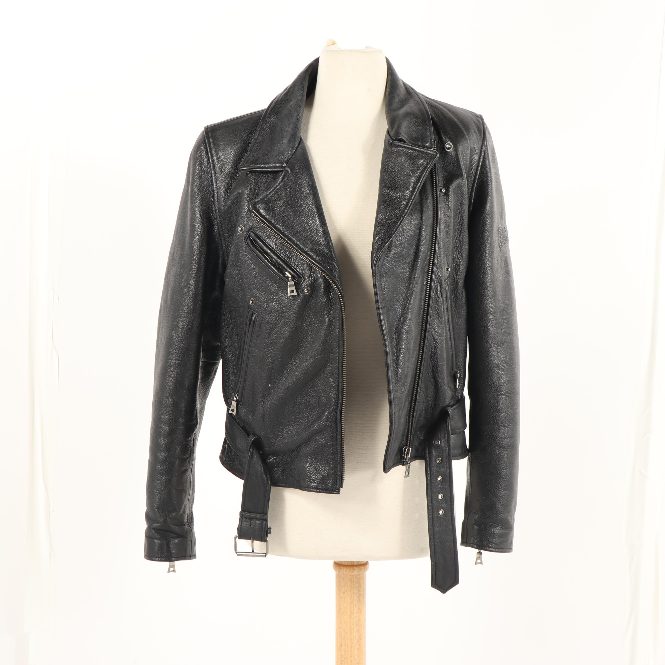 Women's Vintage Flying Bikes Black Leather Motorcycle Jacket