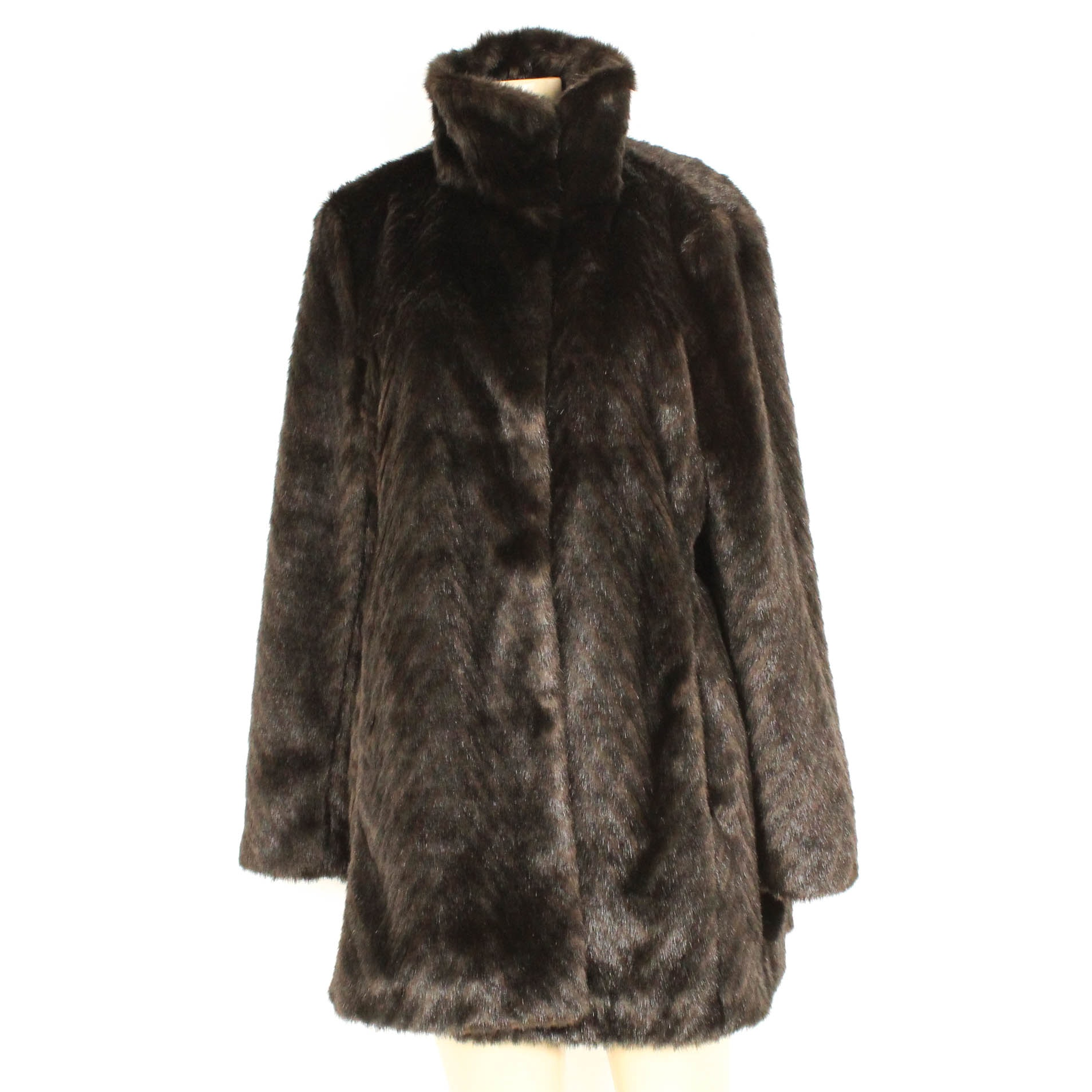 Ellen Tracy Faux Fur Coat