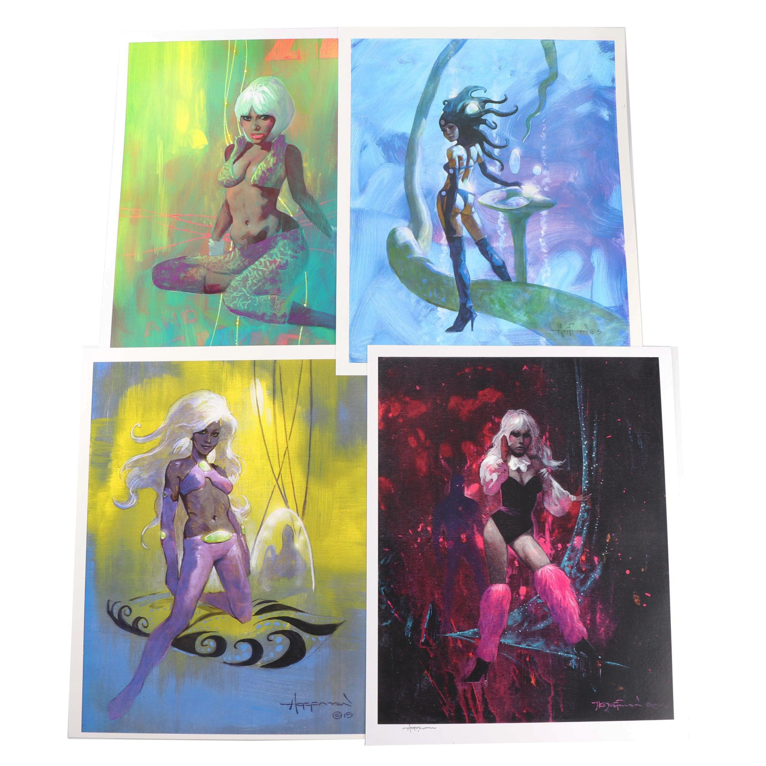 Fantasy Art Offset Lithographs after Mike Hoffmann
