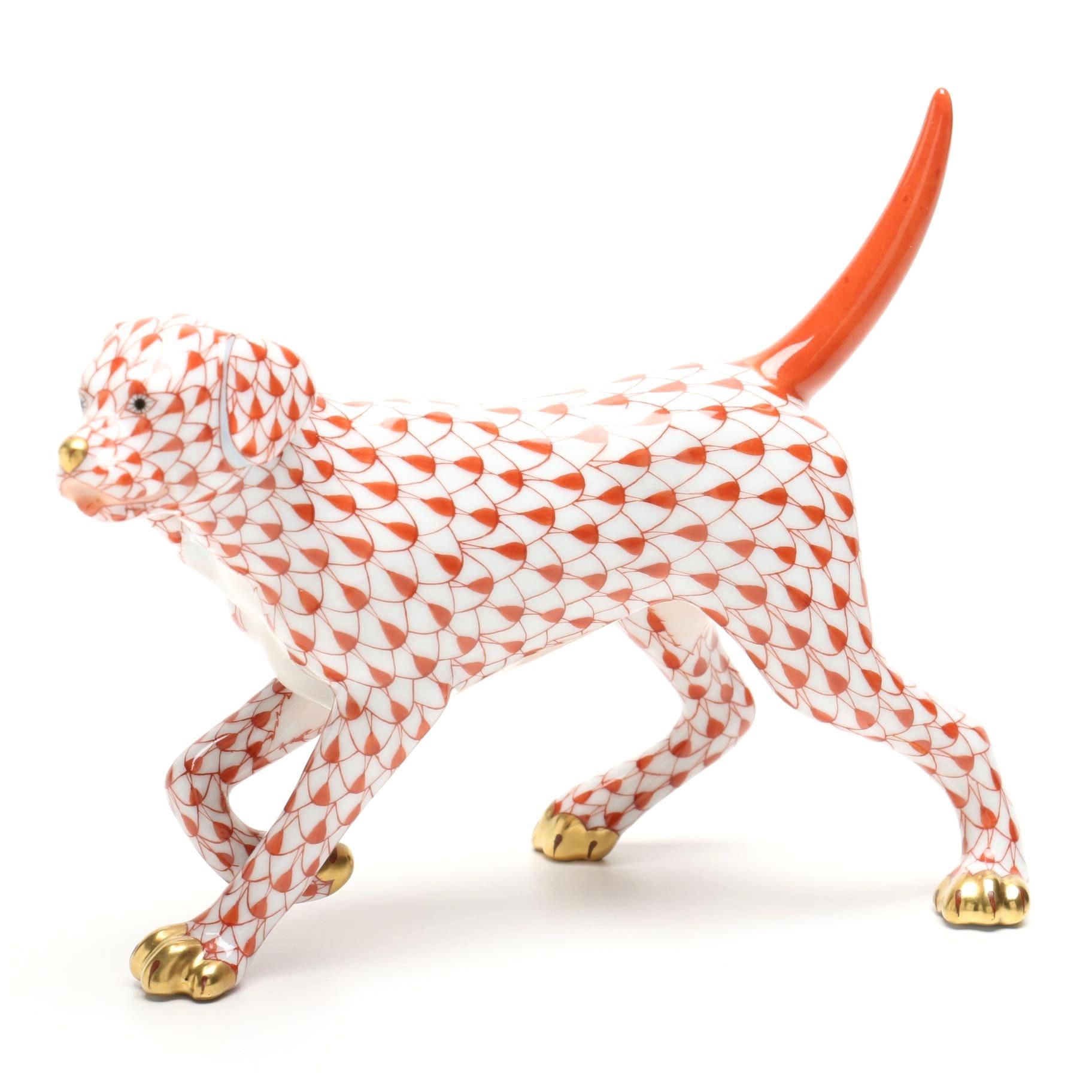 Herend Labrador Retriever Figurine