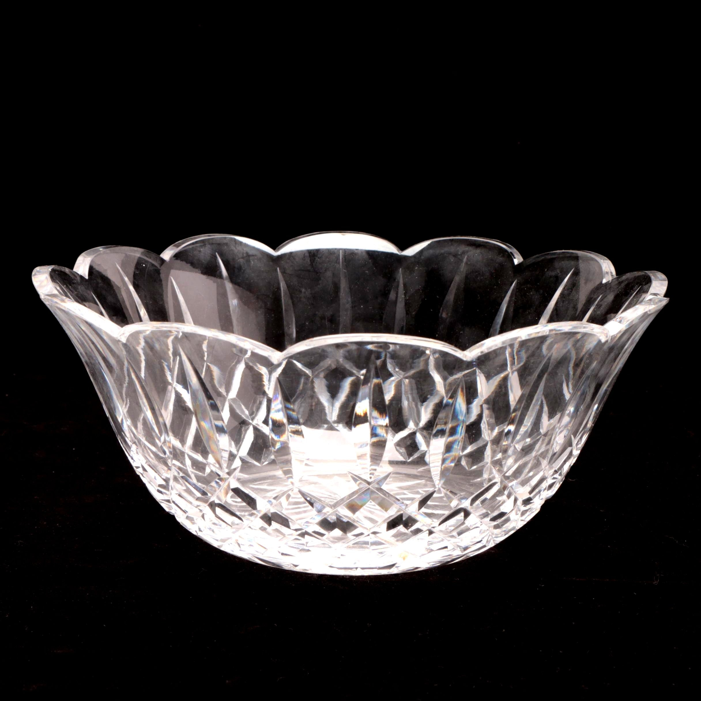 Waterford Crystal Scalloped Bowl