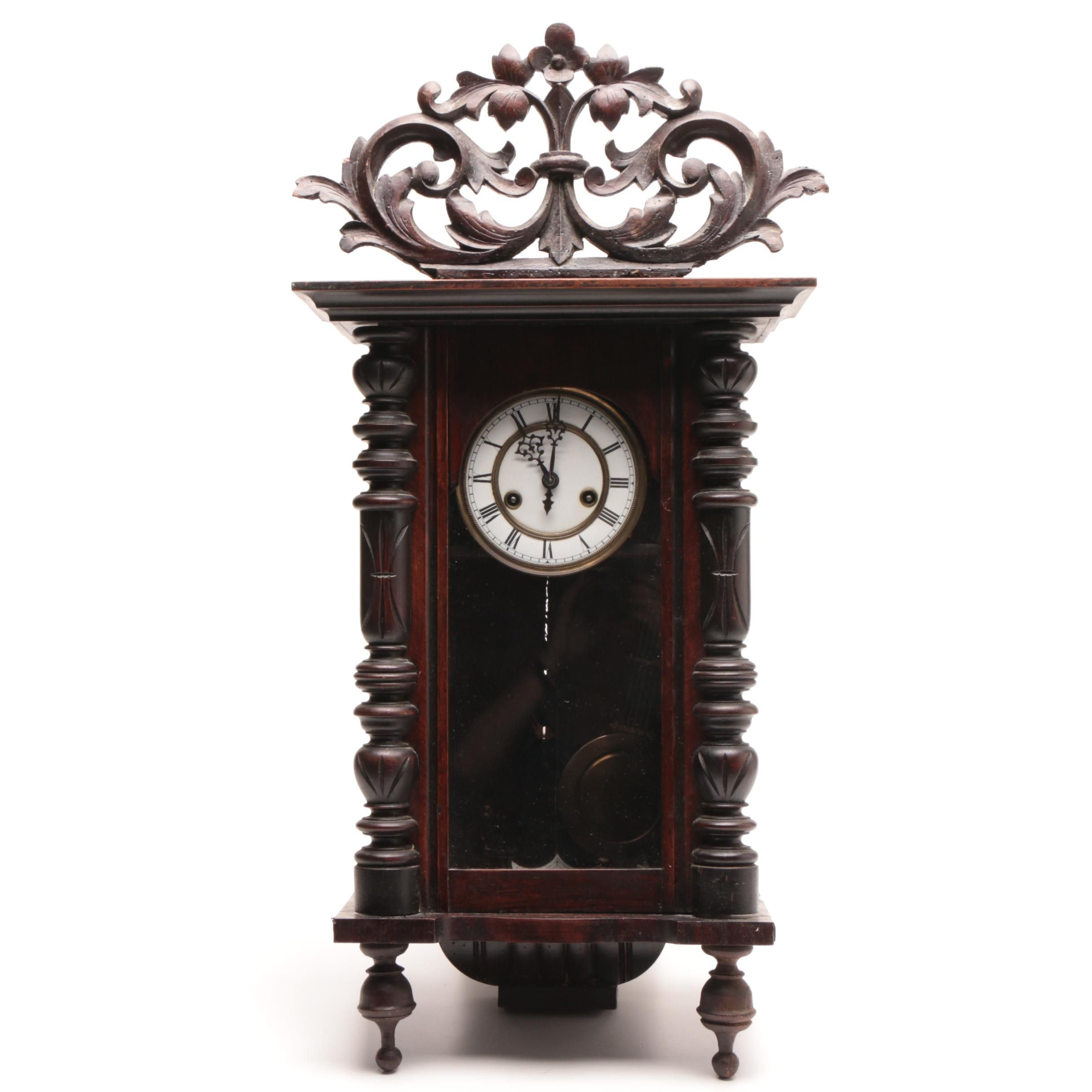 Antique Gustav Becker Silesia Wall Clock Circa 1890s