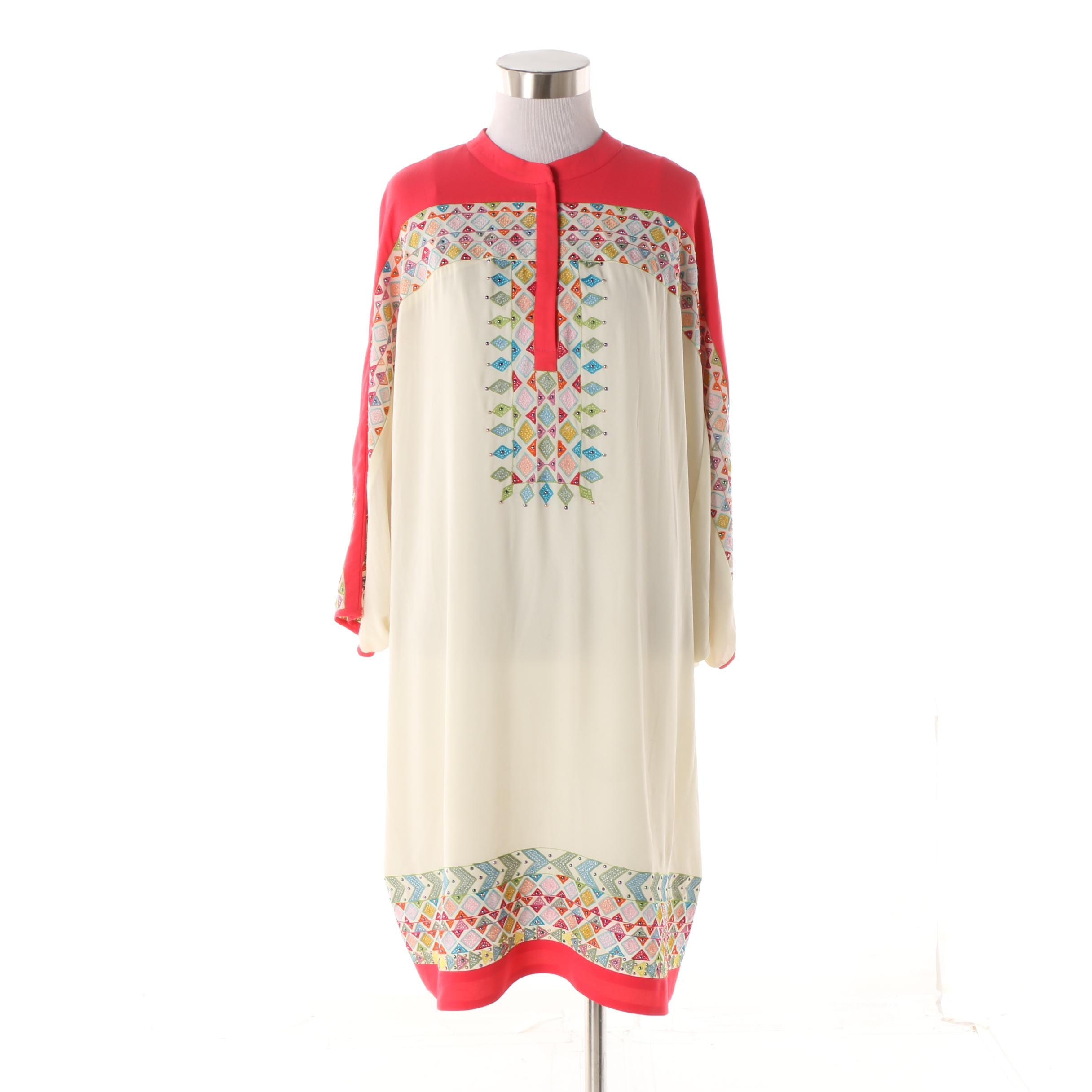 Ranna Gill Beaded and Embroidered Shift Dress