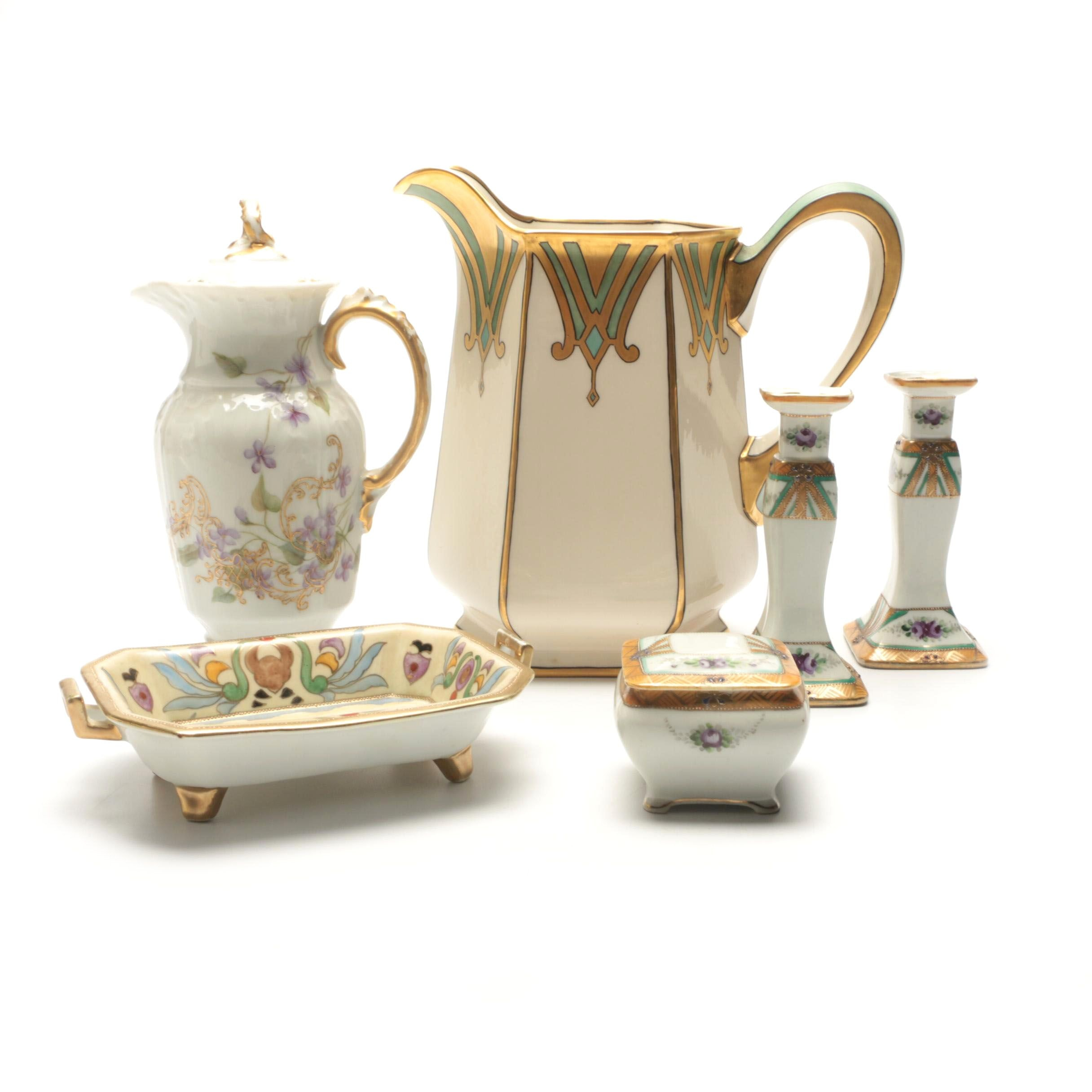 Hand-Painted China Including Nippon