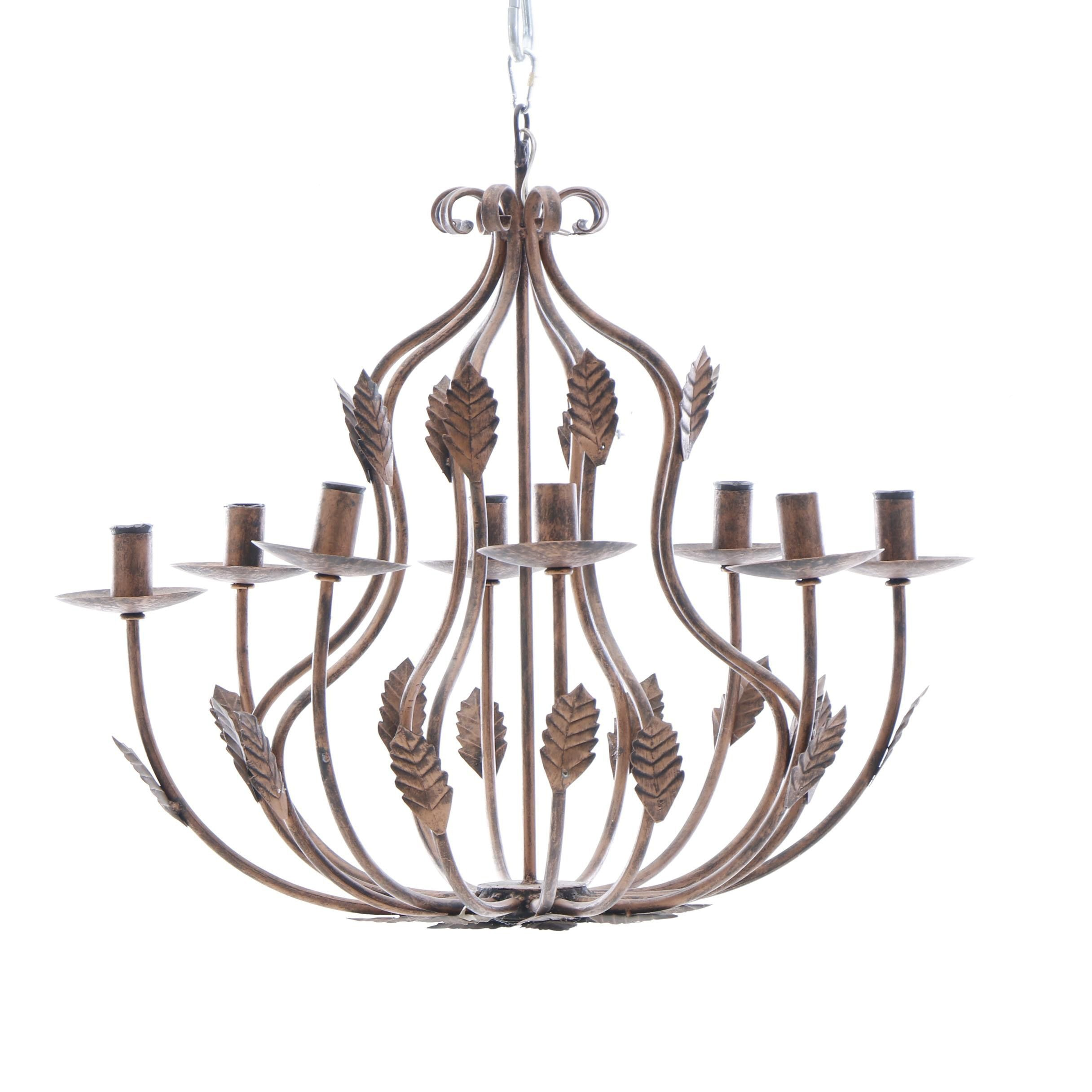 Aged Copper Finish Chandelier