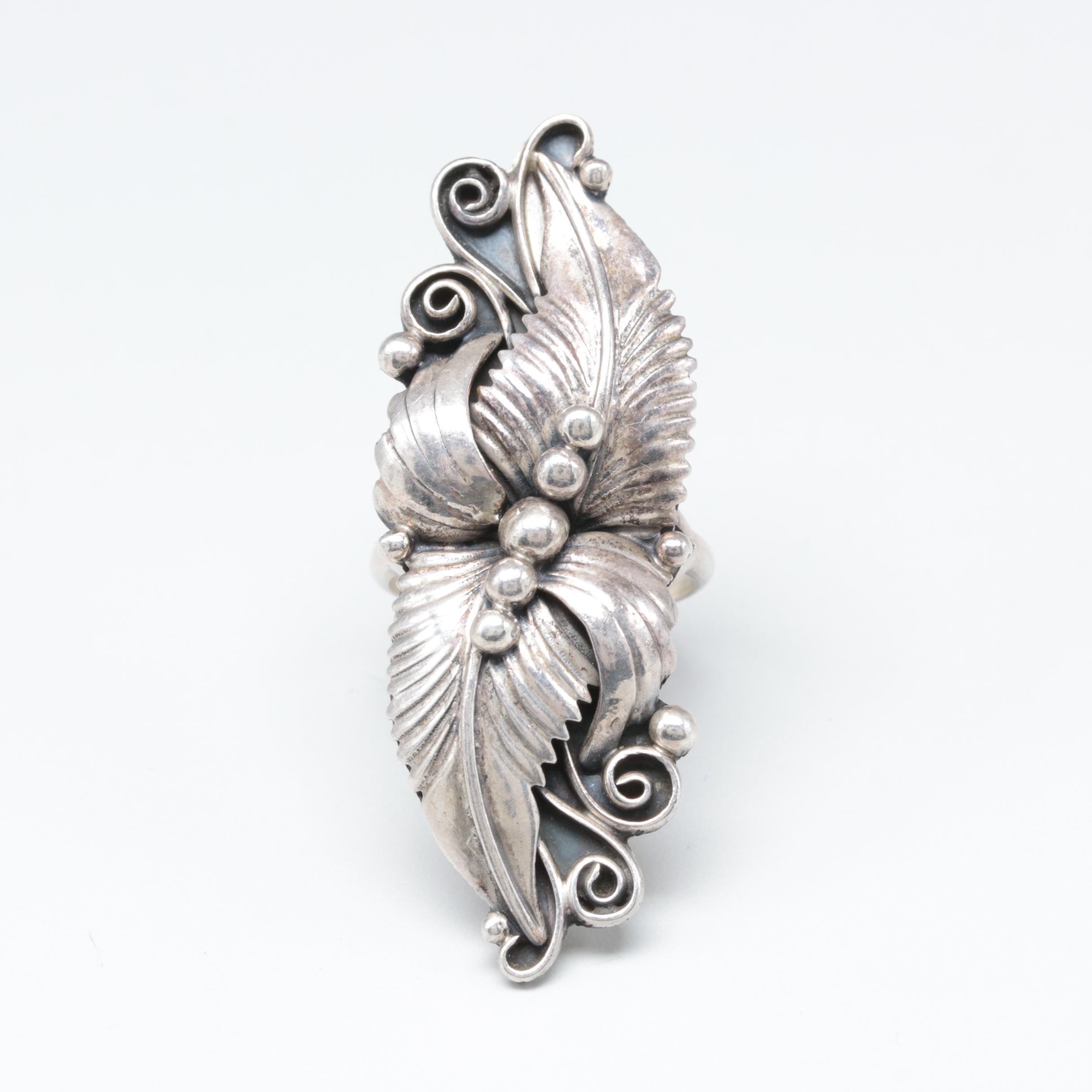 Vernon Begay Navajo Diné Sterling Silver Applique Ring
