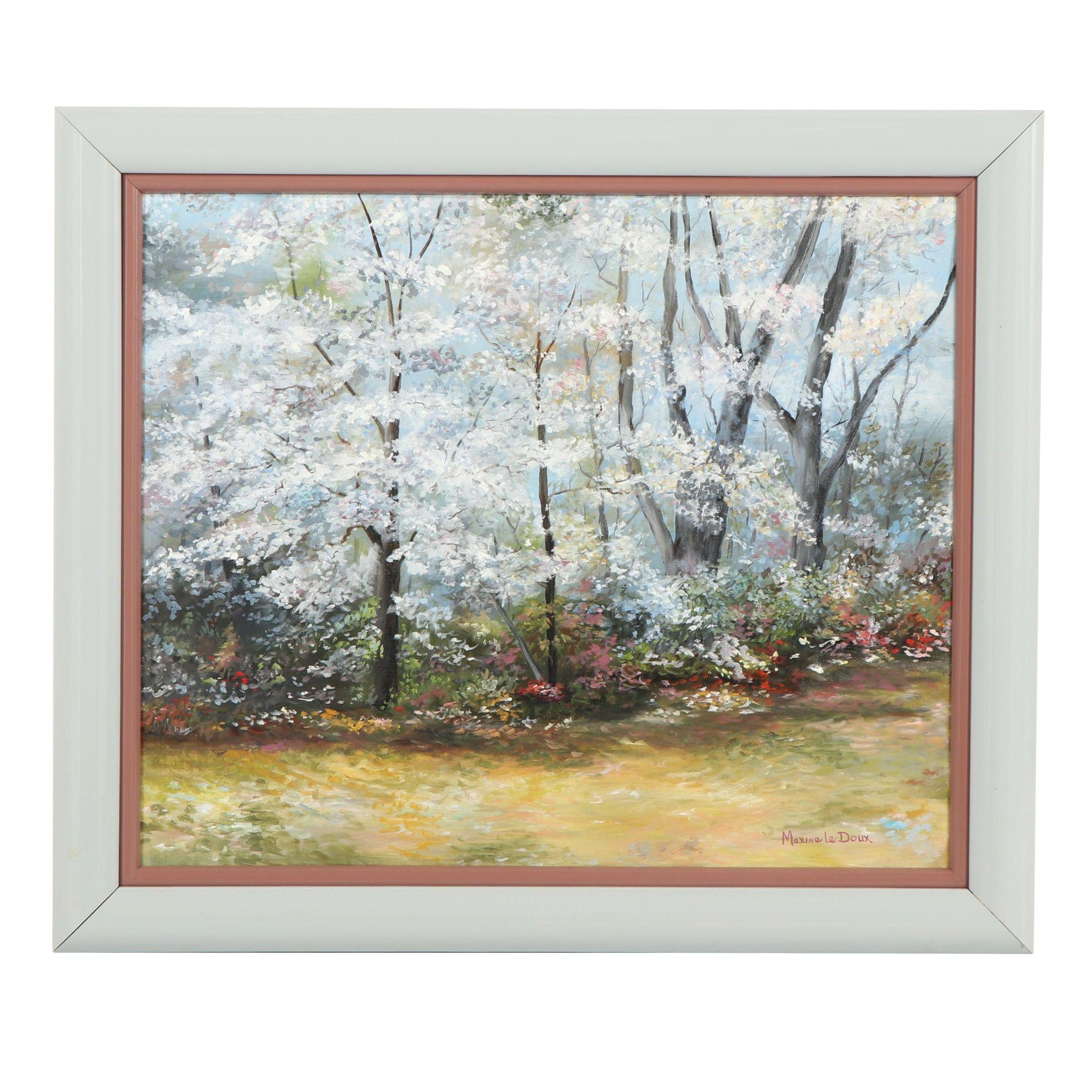 Maxine Le Doux Landscape Oil Painting