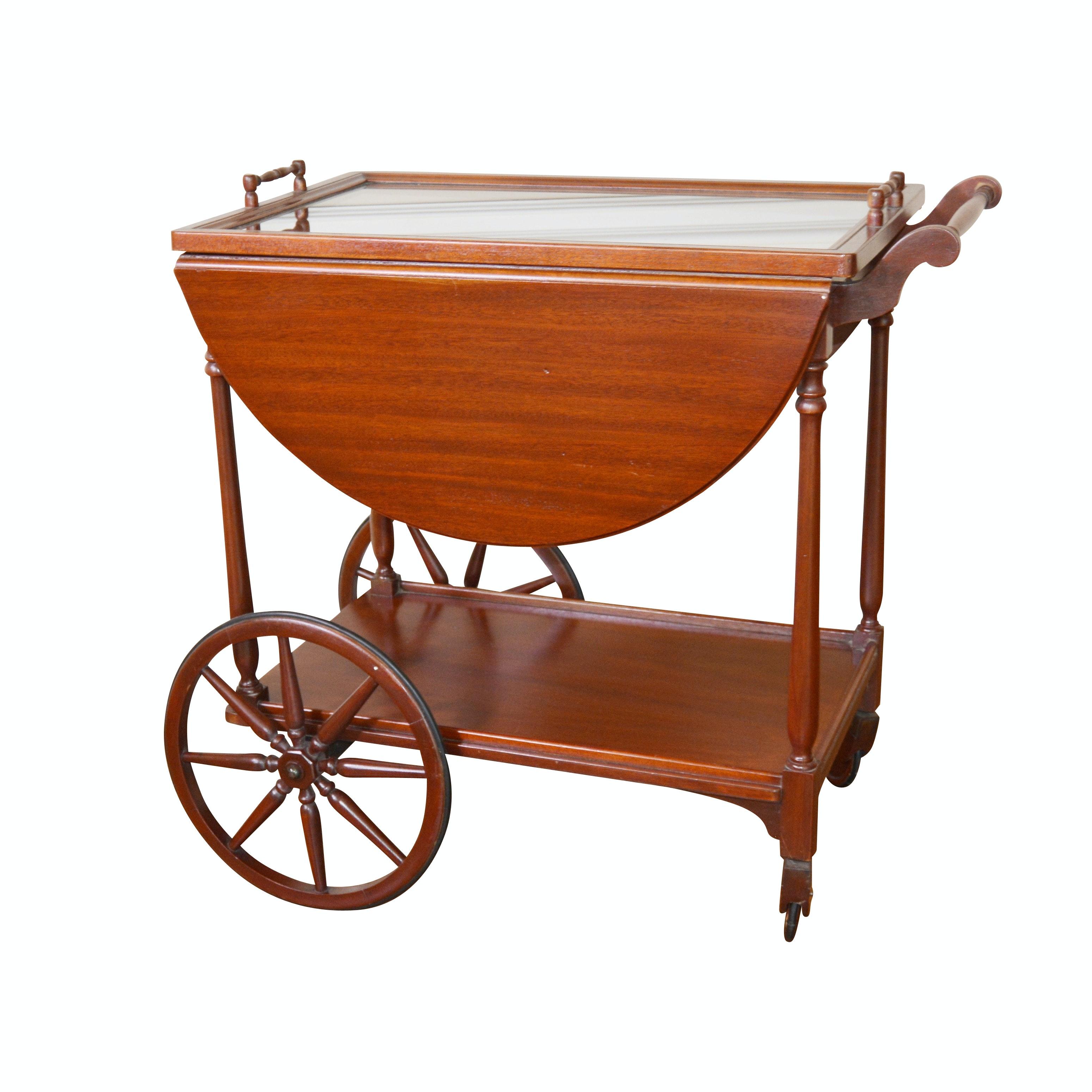 Mahogany Tea Cart by Pallman Furniture Co., Mid-20th Century