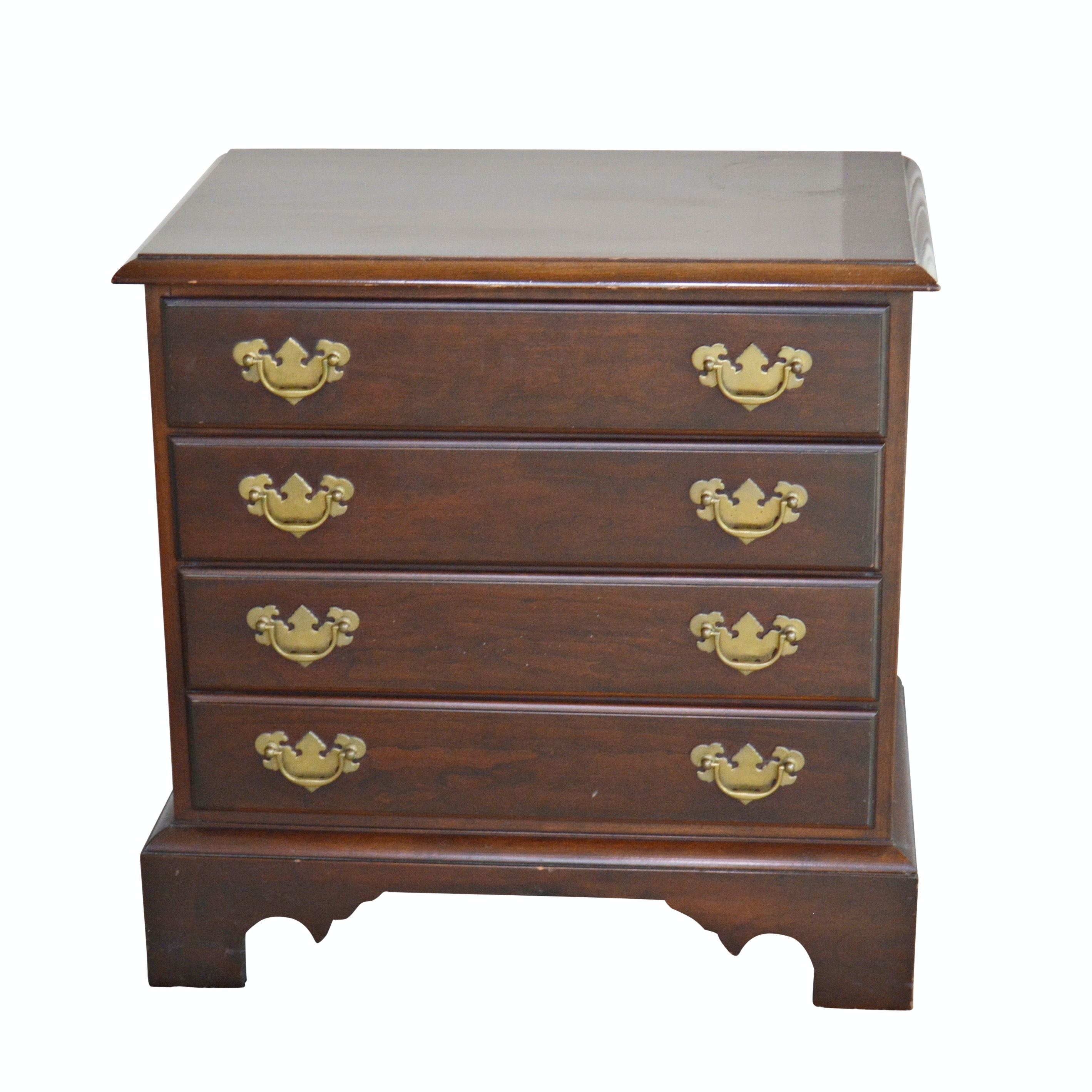 Federal Style Mahogany Nightstand, Late 20th Century