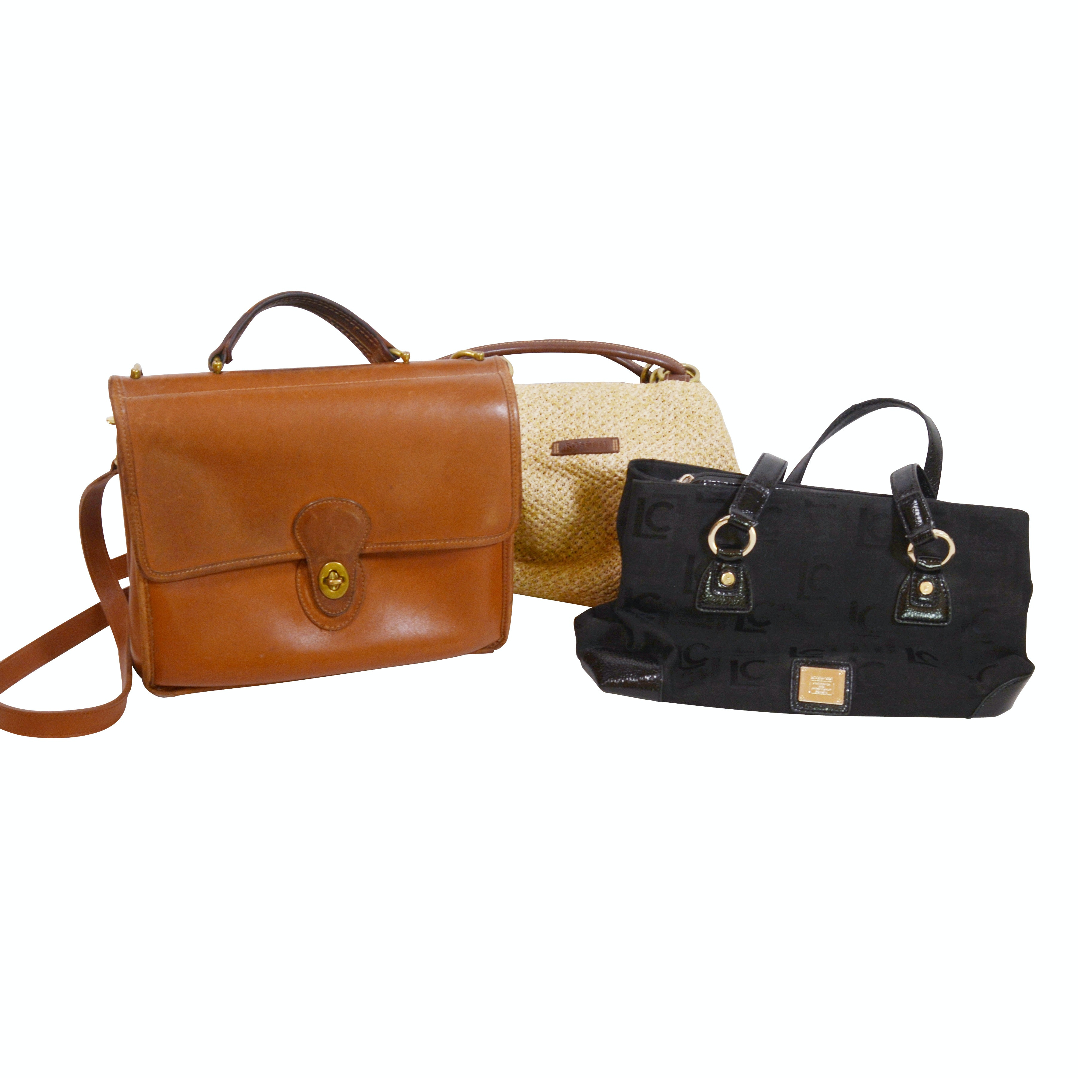 Vintage Coach Willis Leather Satchel Bag and Other Handbags