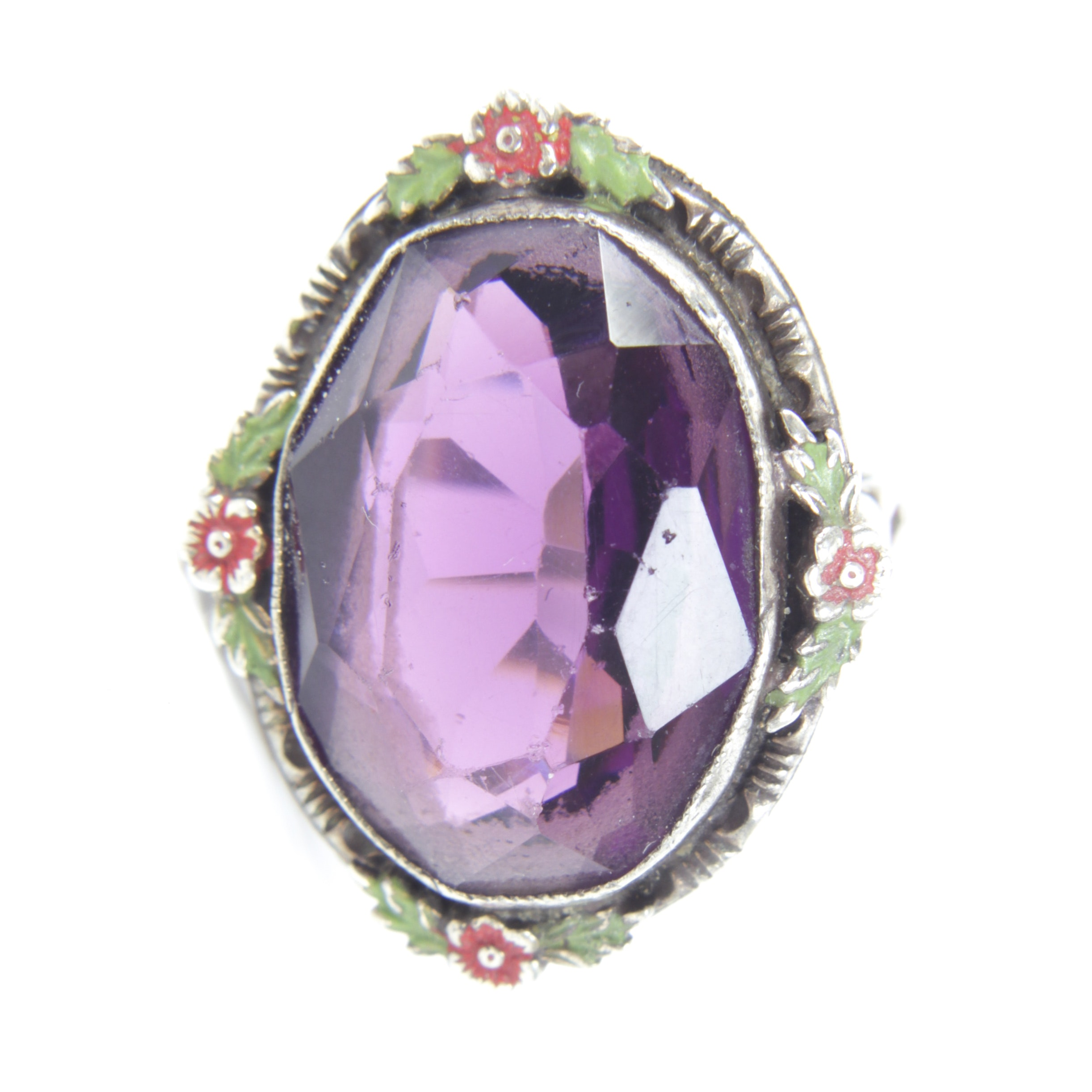 Vintage Sterling Silver 9.07 CT Amethyst Ring