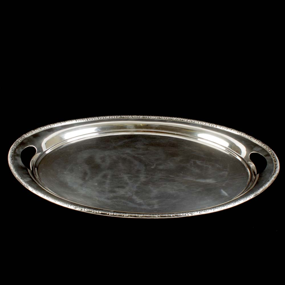 "International Silver Co. ""Prelude"" Sterling Silver Large Waiter Tray"