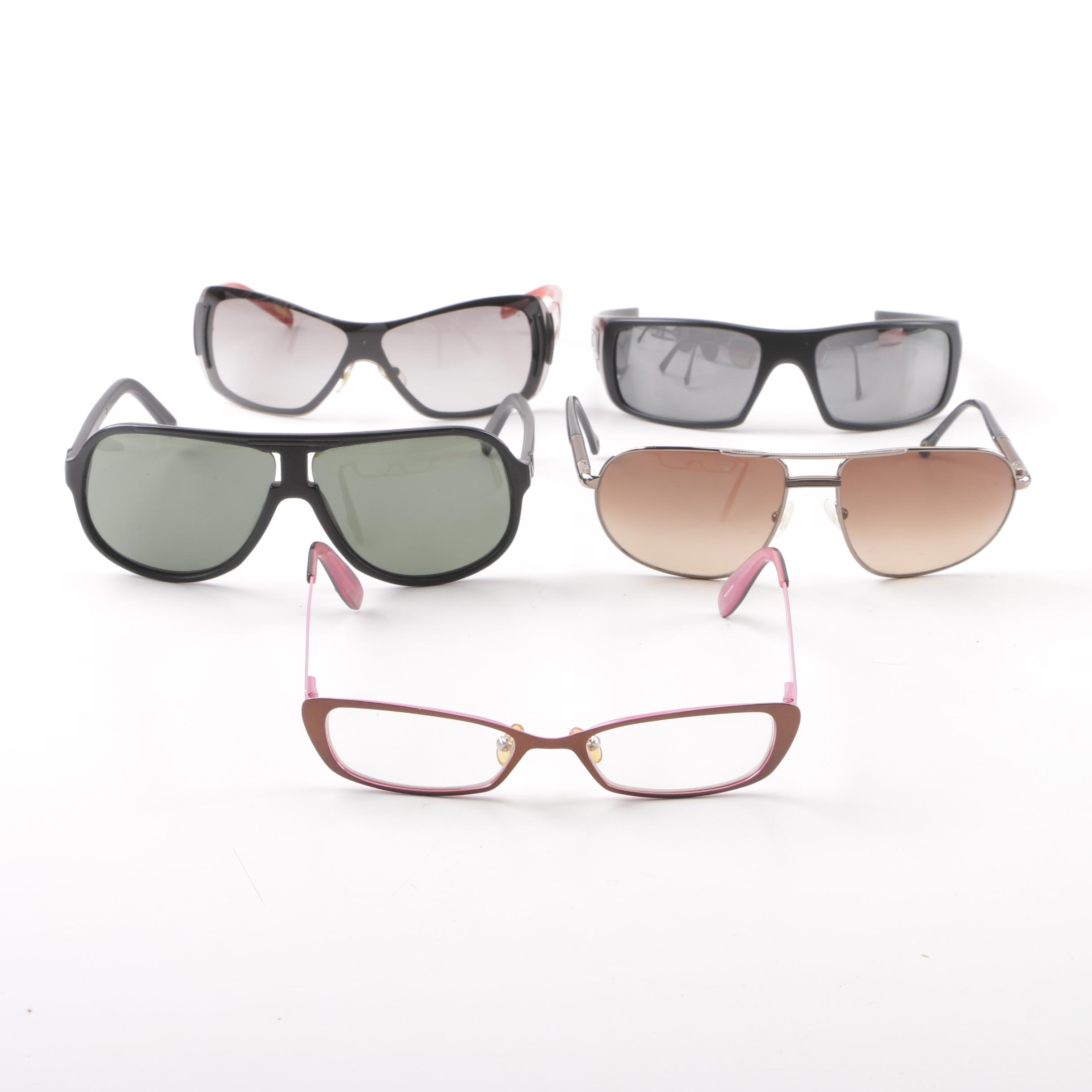 Sunglasses and Eyeglasses including Oakley, VonZipper and Juicy Couture