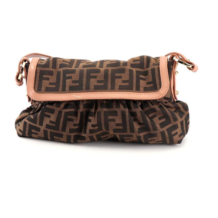 9d432f2787 Fendi Zucca Chef Small Handbag in Tobacco and Tan   EBTH