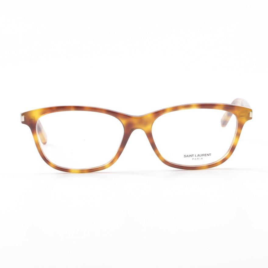 46a9ddbe6dd Saint Laurent Paris SL12 Tortoiseshell Style Eyeglasses with Case   EBTH