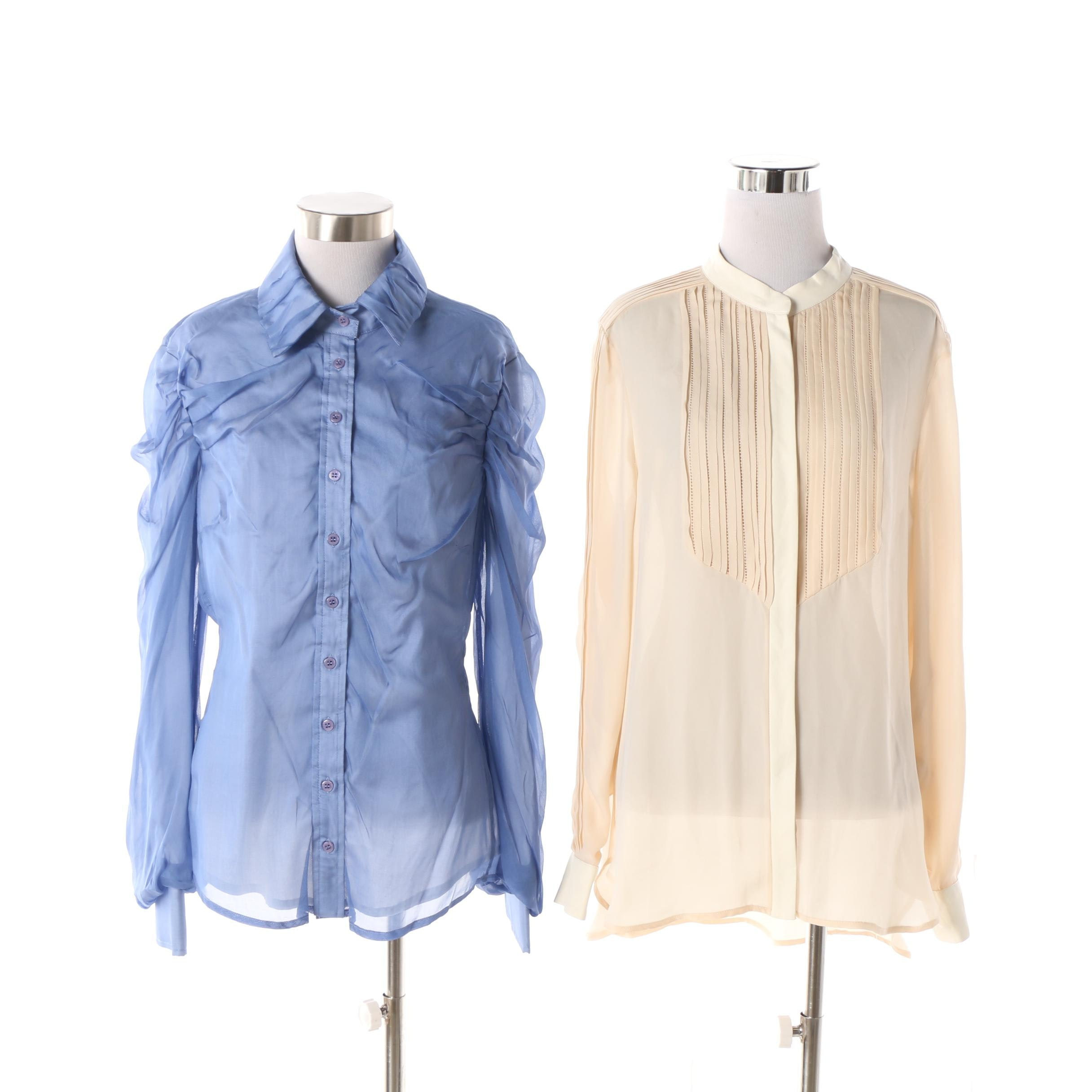 Women's Haute Hippie Pintuck Blouse and Andy Thé-Anh Ruched Button-Up