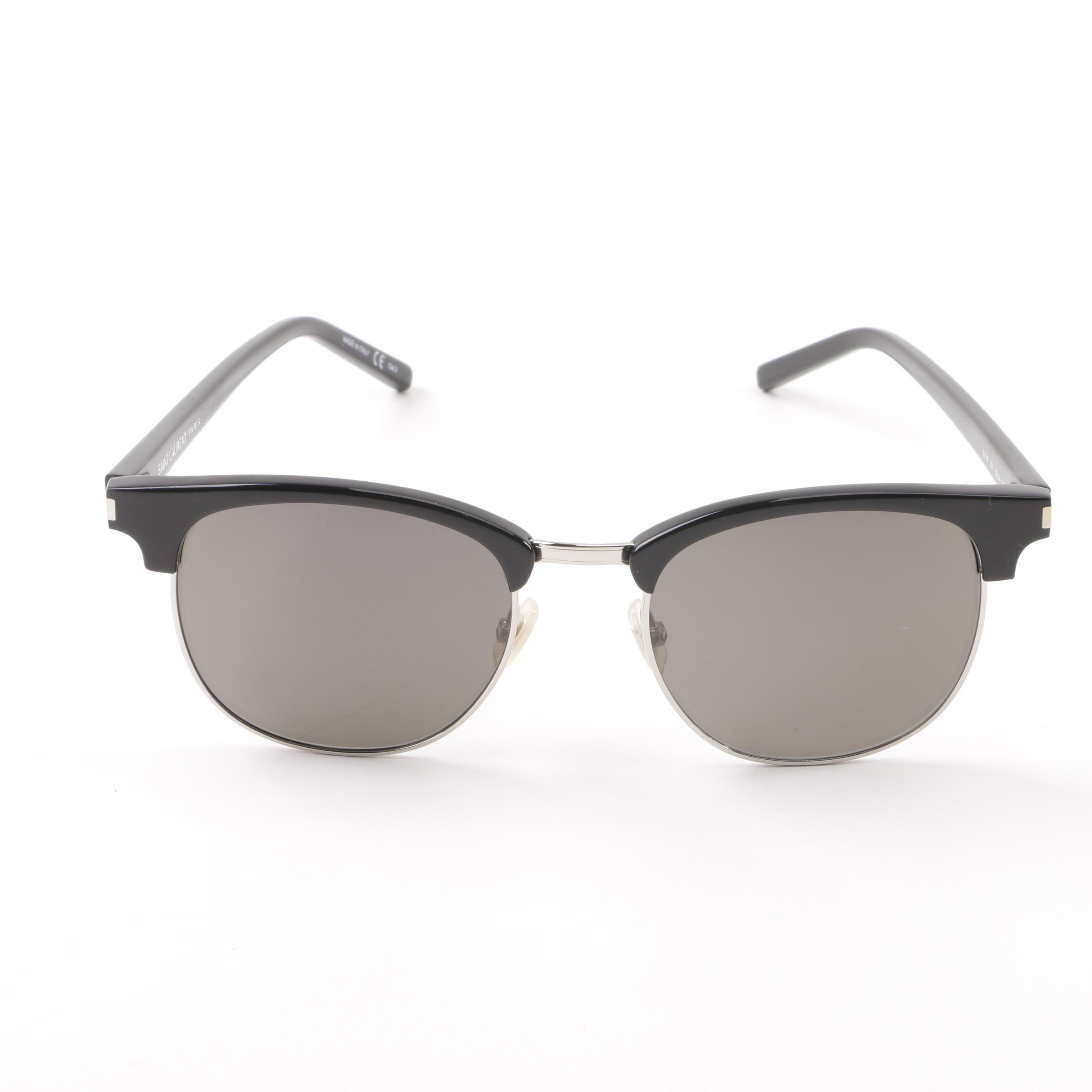 Saint Laurent Paris SL108 Browline Sunglasses with Case