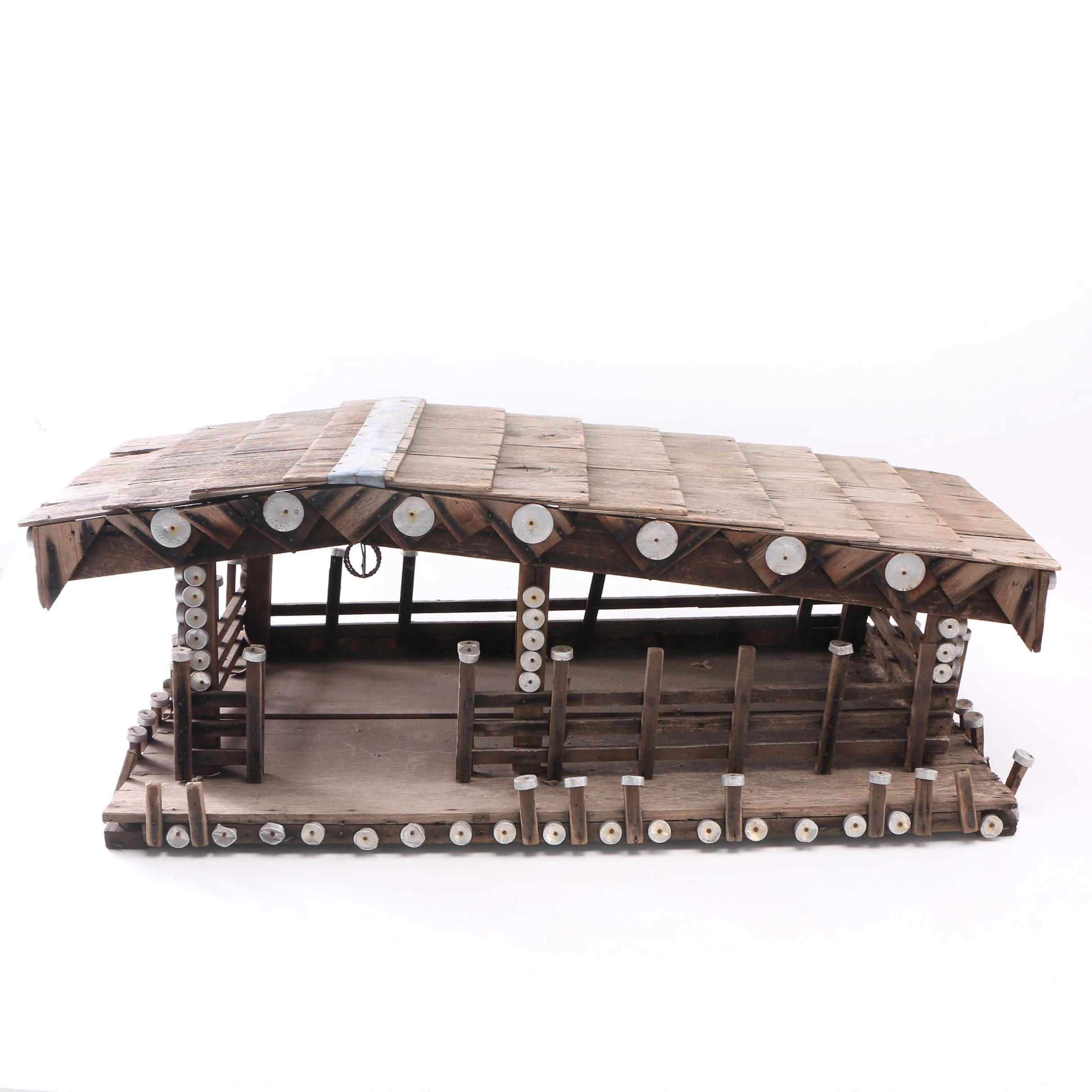 Decorative Wood Shingled House