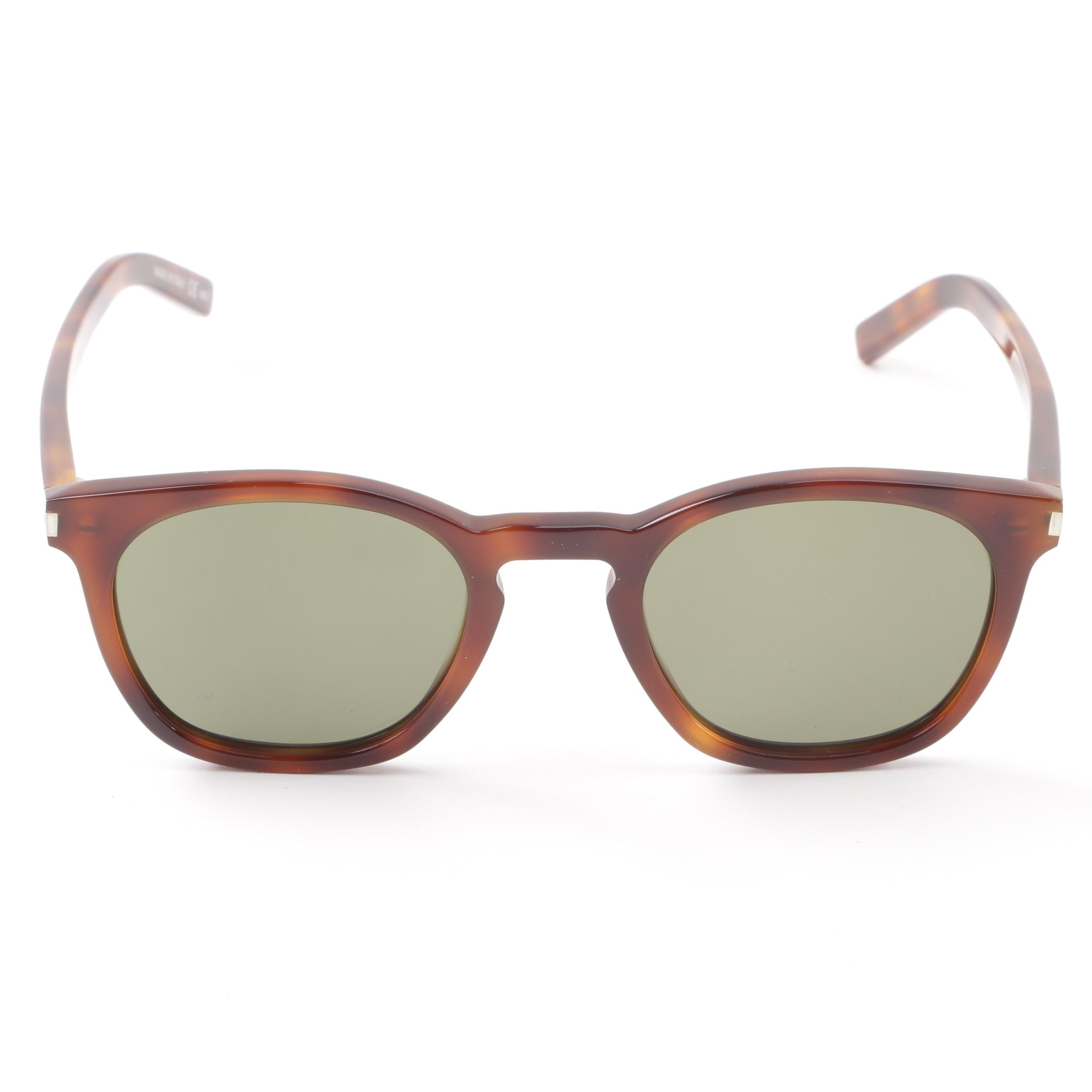 Saint Laurent Paris SL28 003 Tortoiseshell Style Sunglasses with Case