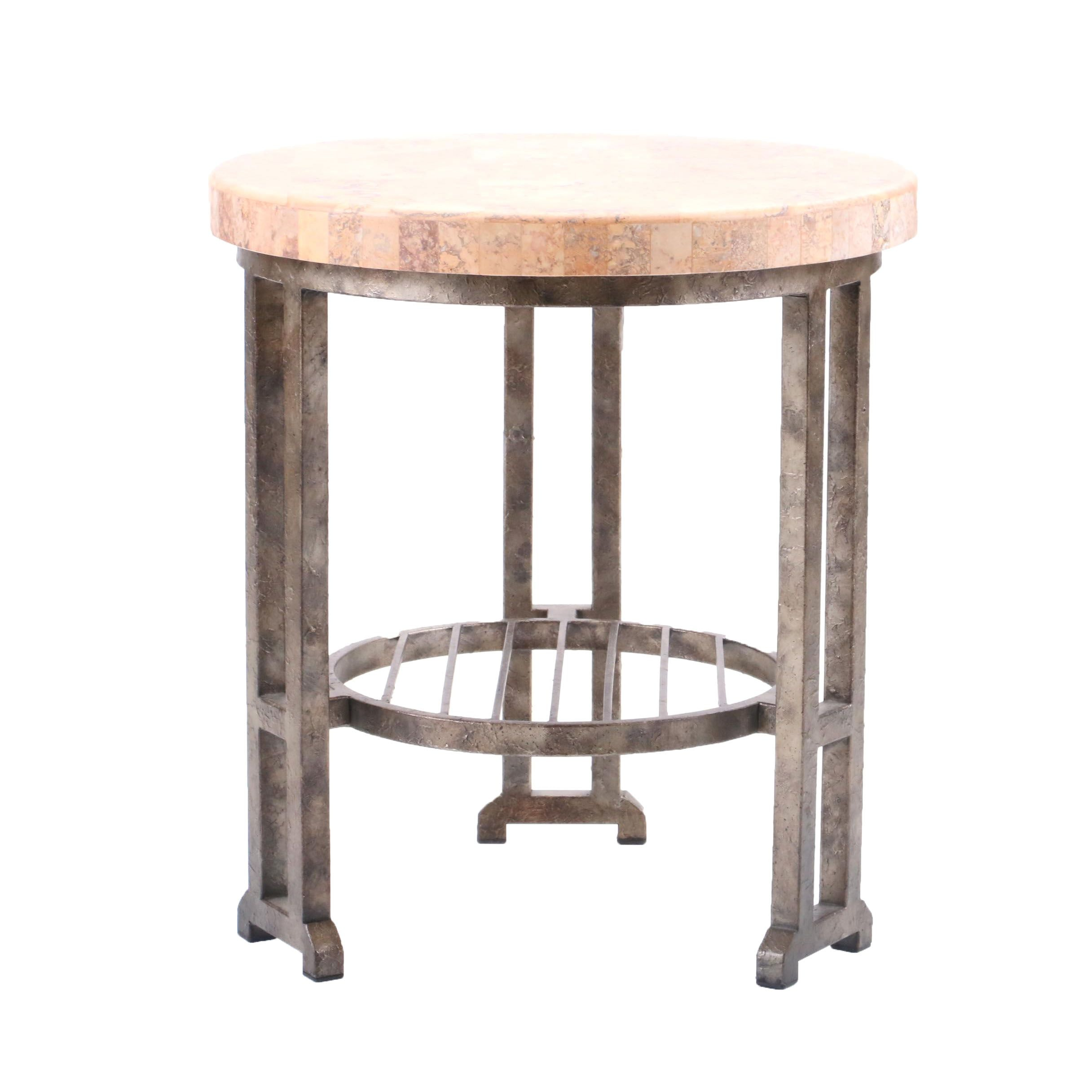Marble Veneer End Table