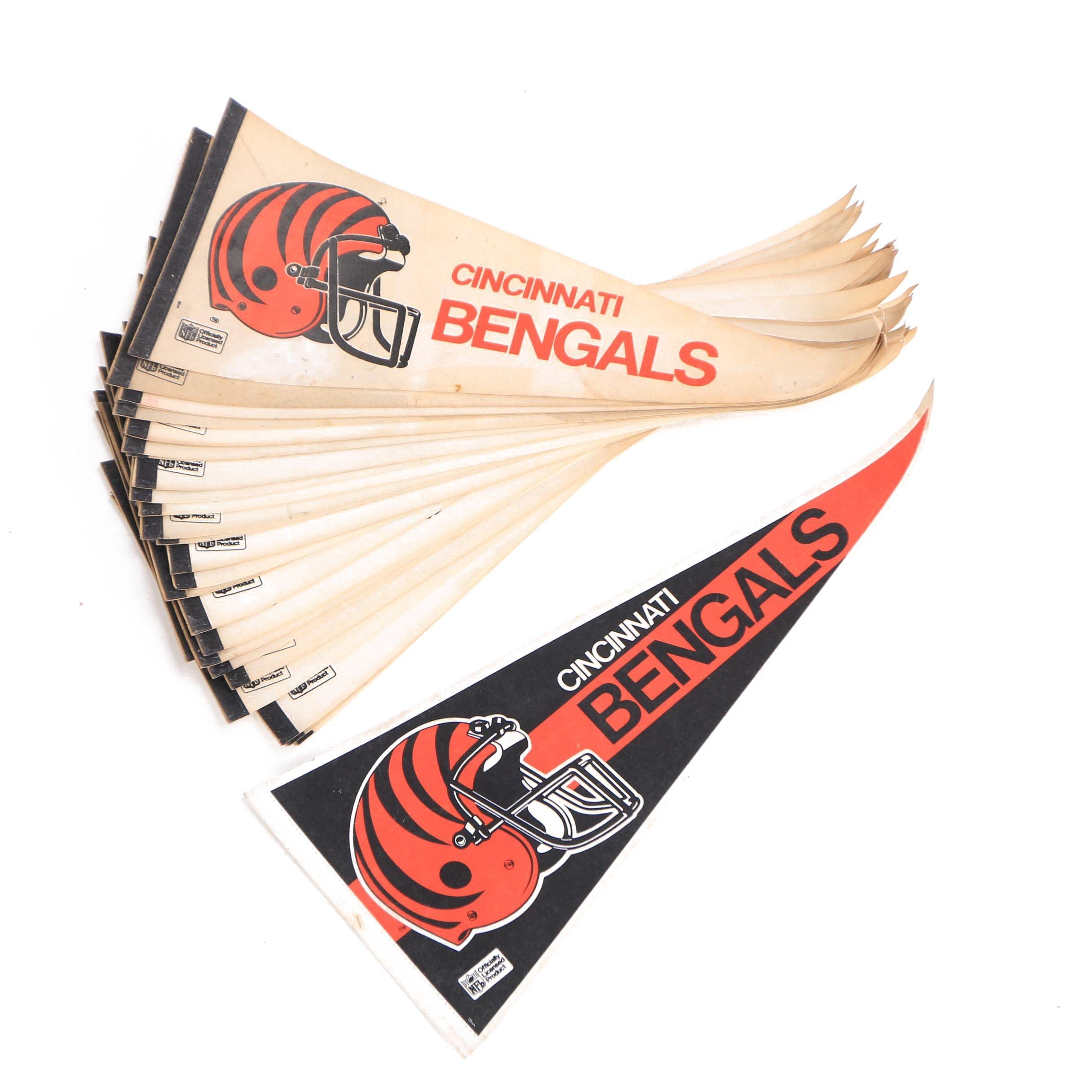 Vintage Cincinnati Bengals Pennants