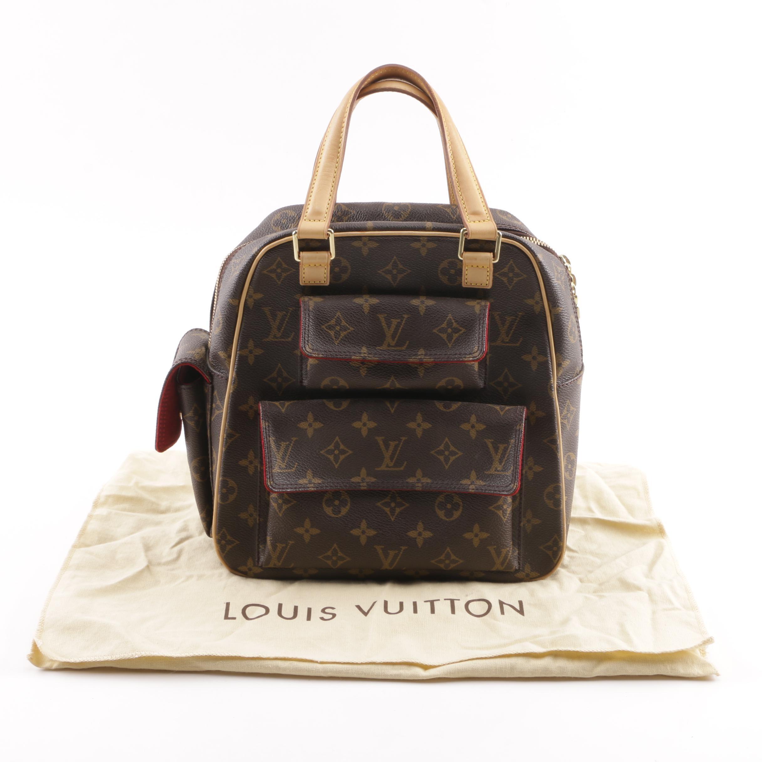 2004 Louis Vuitton Paris Excentri Cite Monogram Canvas Satchel Handbag