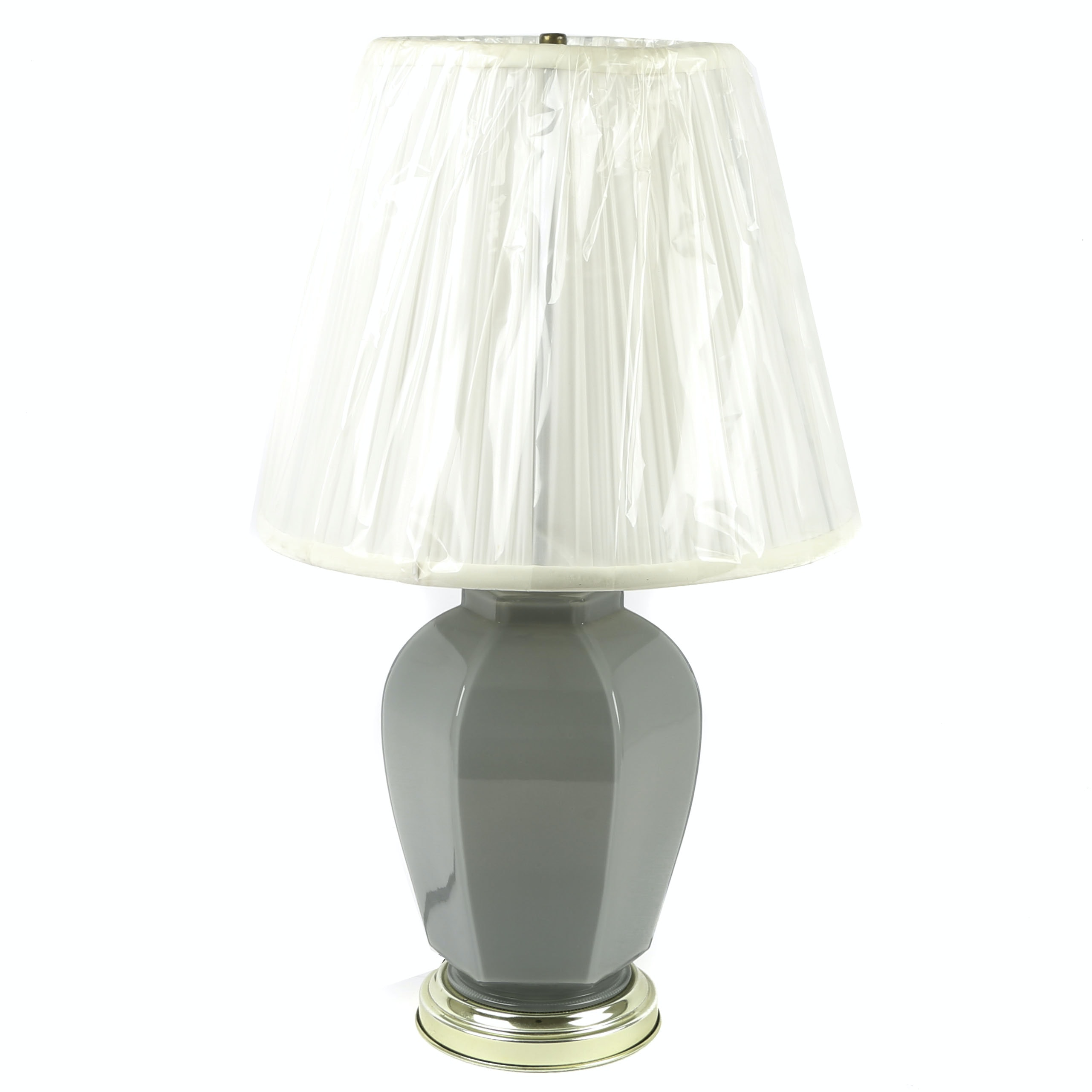 Hexagonal Baluster Ceramic Table Lamp with Shade