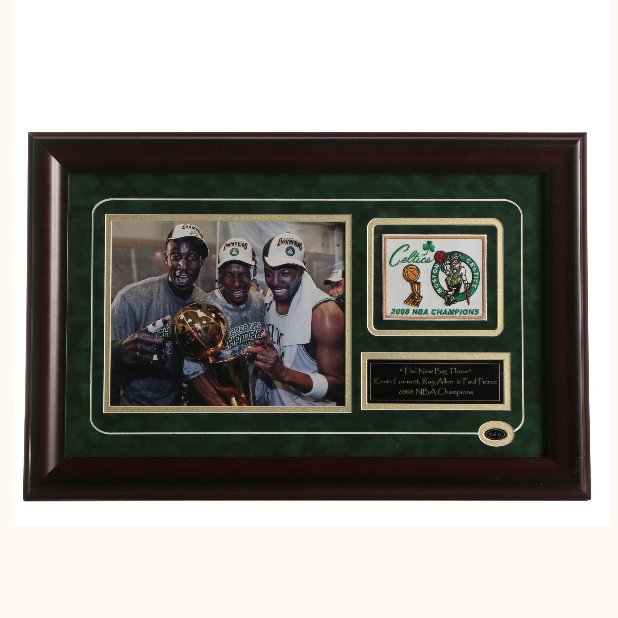 2008 Boston Celtics NBA Champions Framed Memorabilia