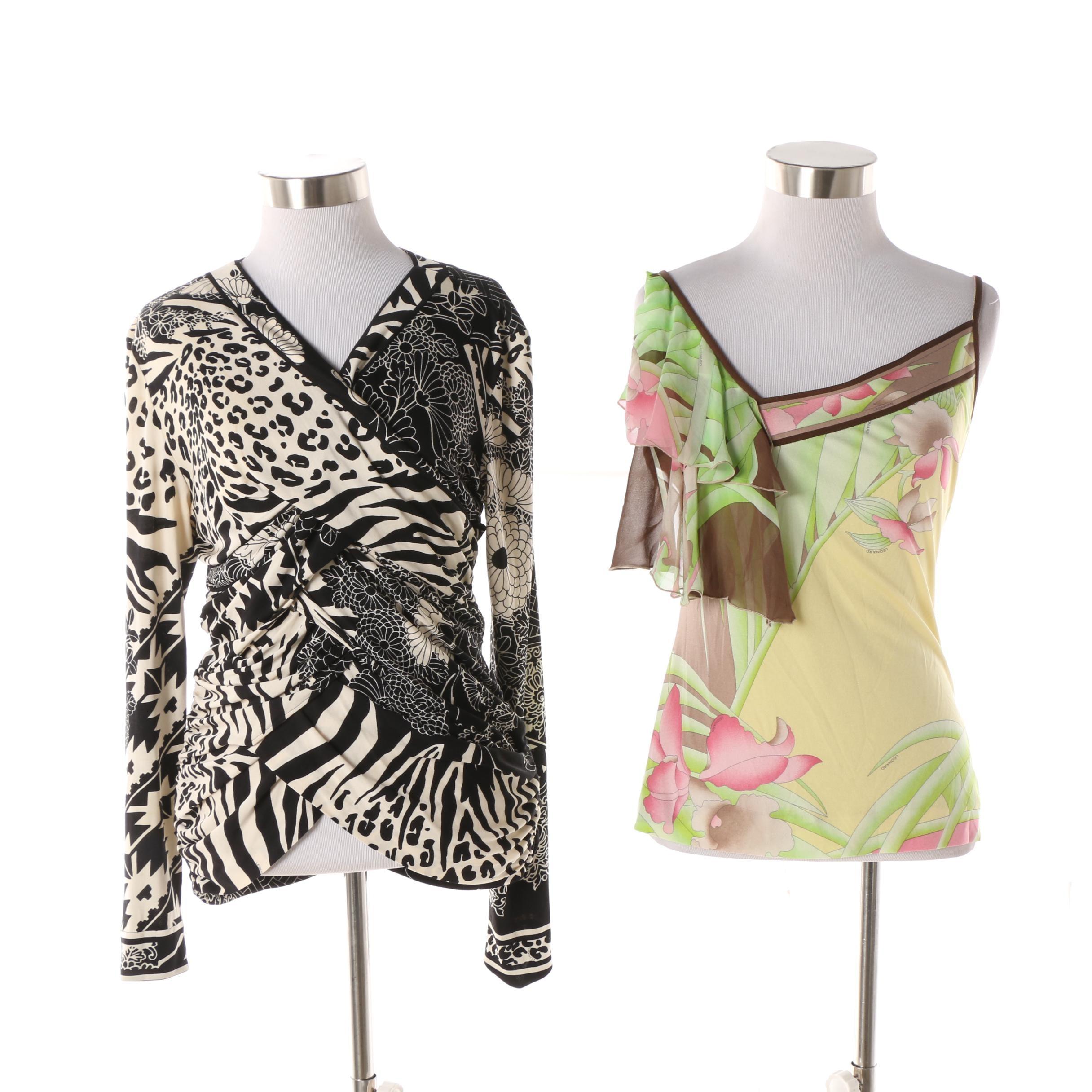 Women's Leonard Paris Silk Jersey Tops
