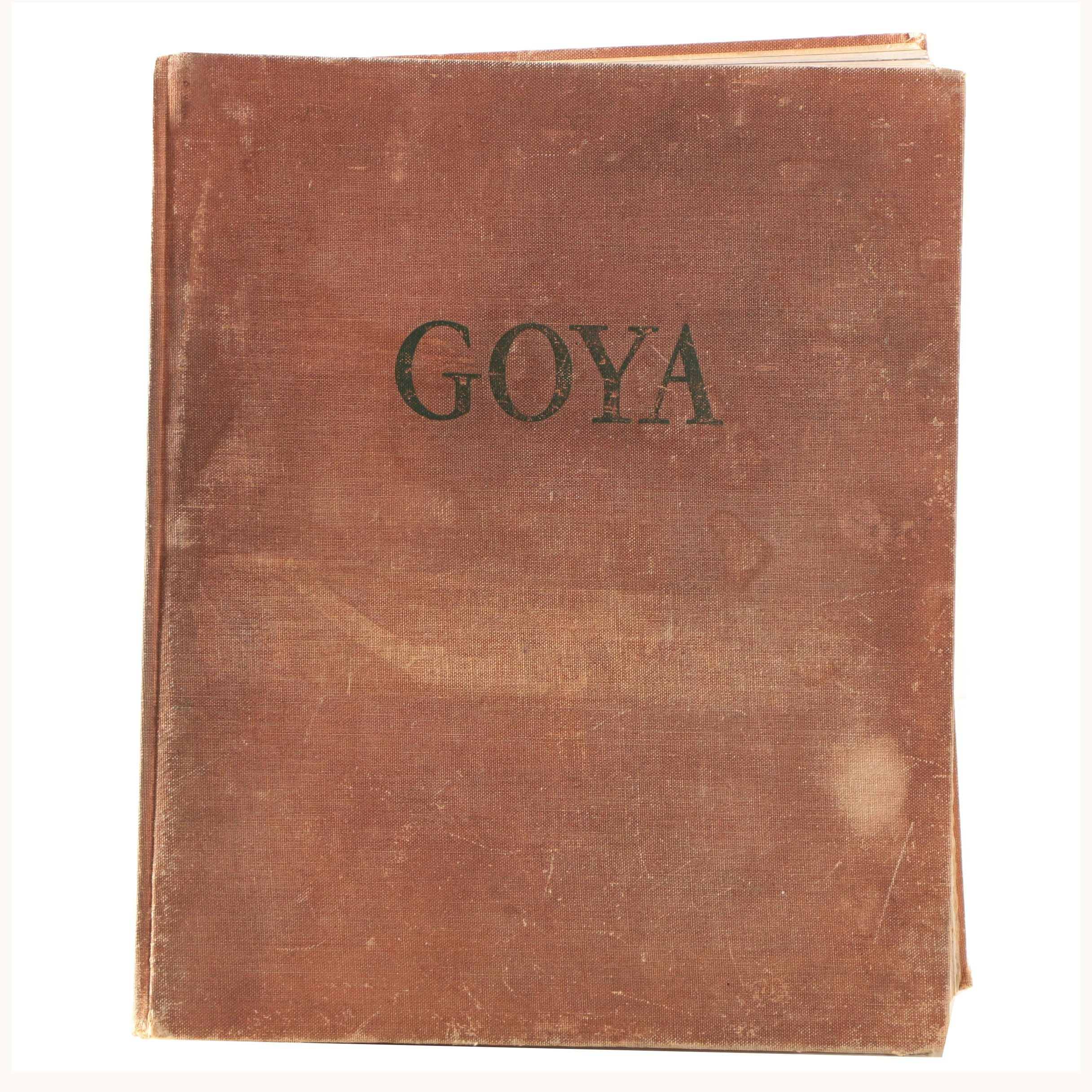 "1964 First English Edition ""Goya"" Art Book"