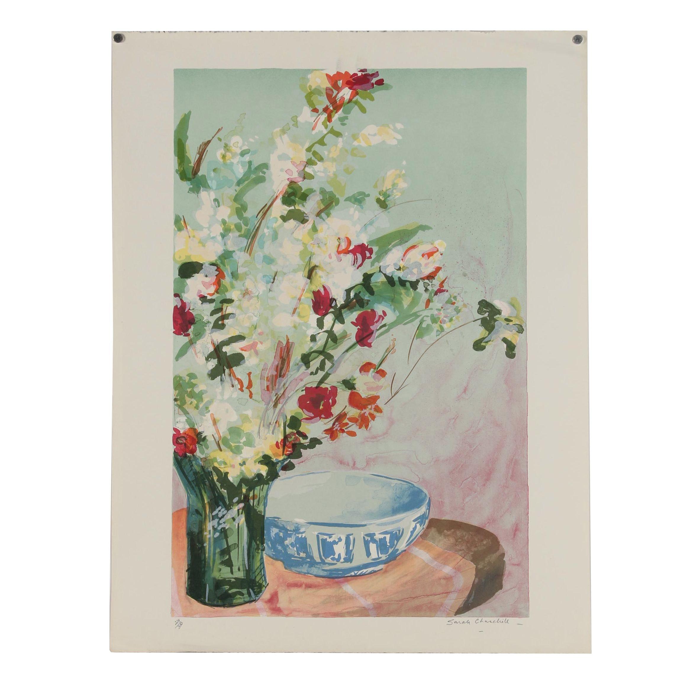 Sarah Churchill Color Lithograph