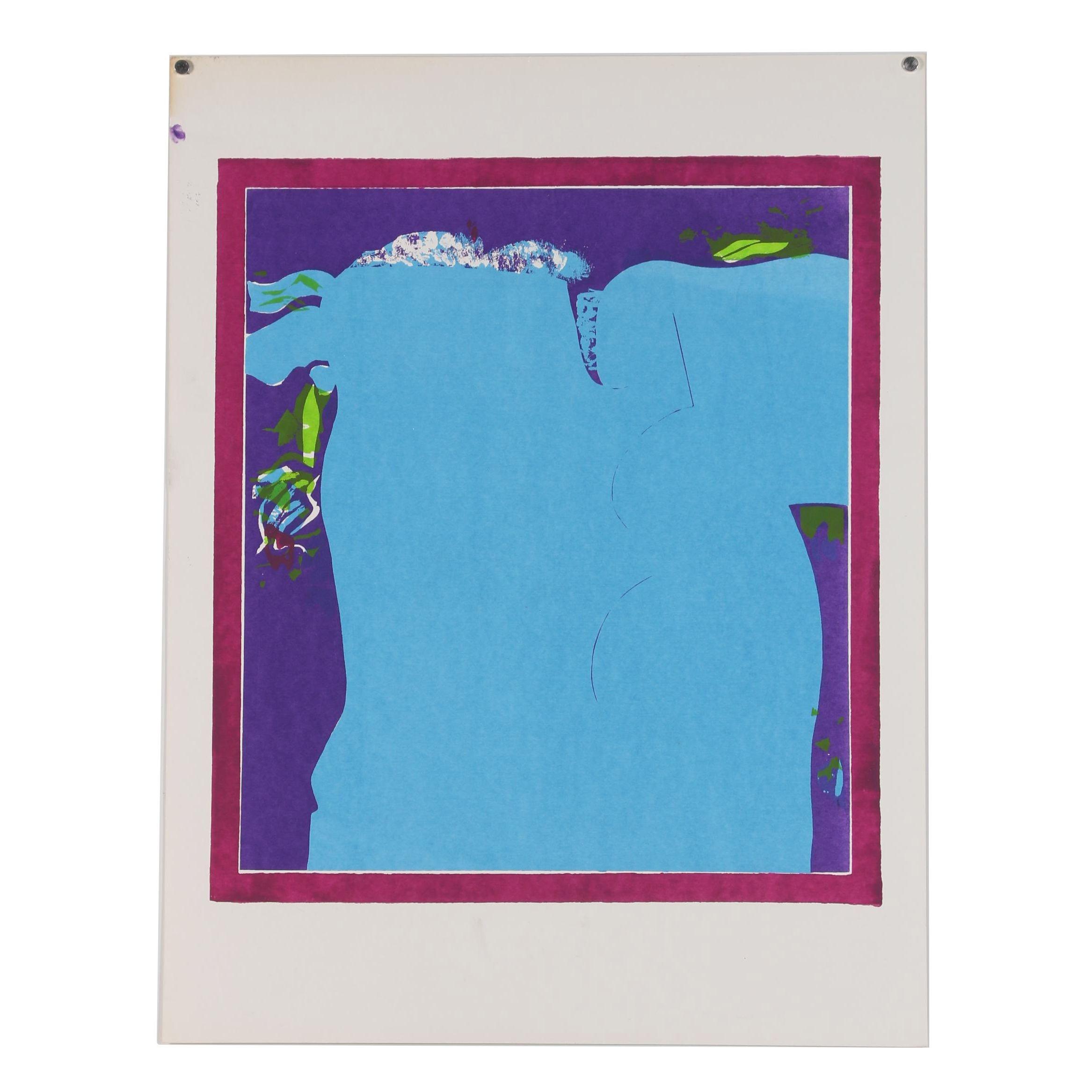 "Sylvia Birch Halperin Serigraph ""Lovers #3"""