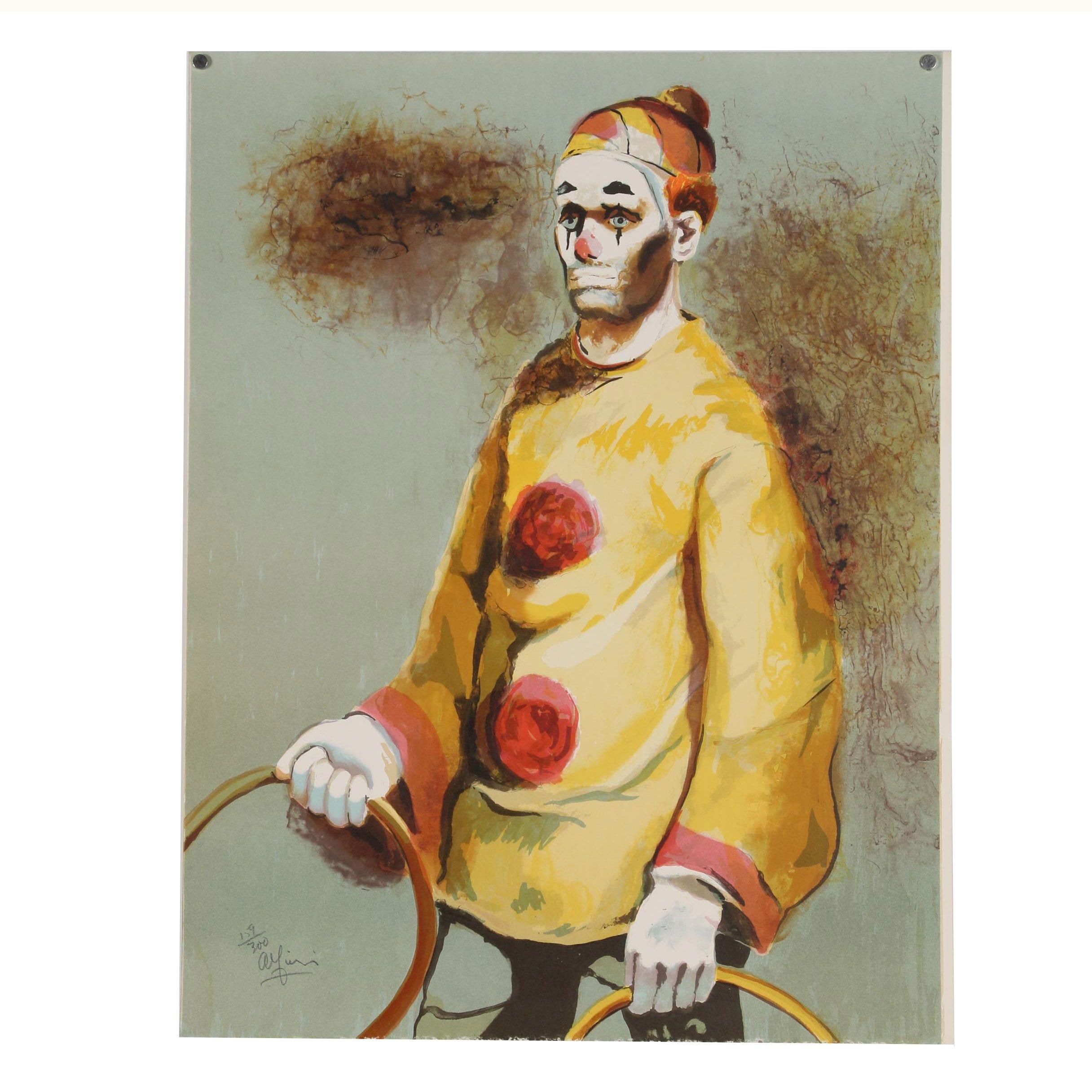 Philippe Alfieri Color Lithograph