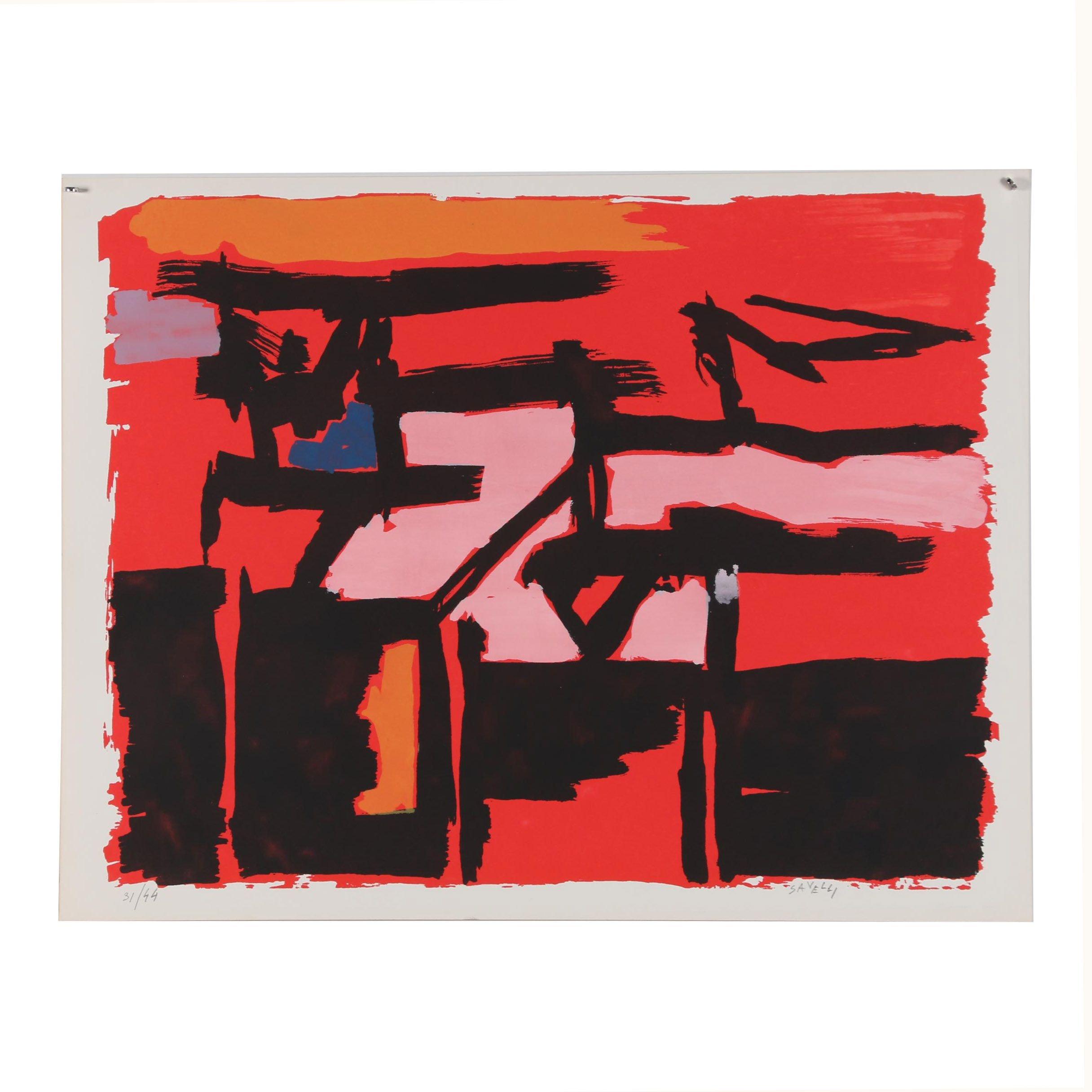 Angelo Savelli Abstract Serigraph