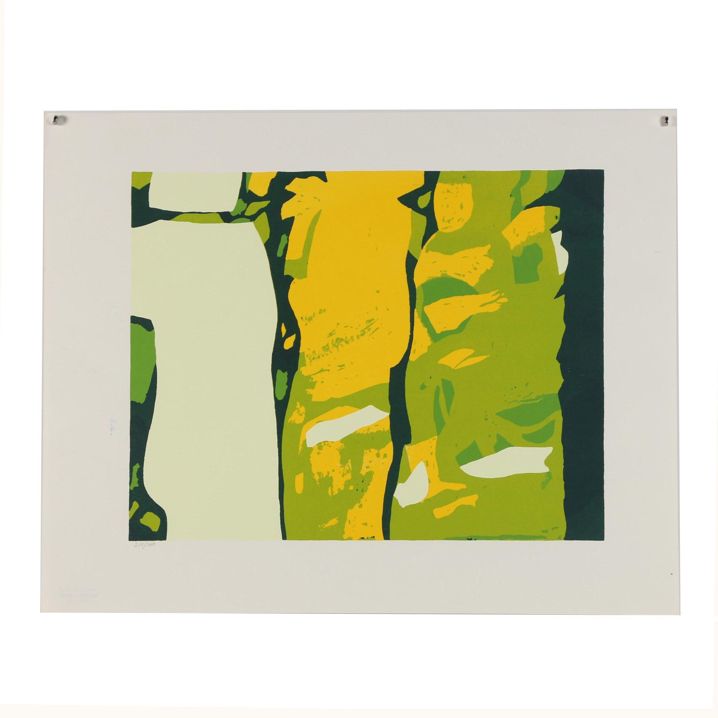 "Sylvia Birch Halperin Abstract Serigraph ""The Visitors"""