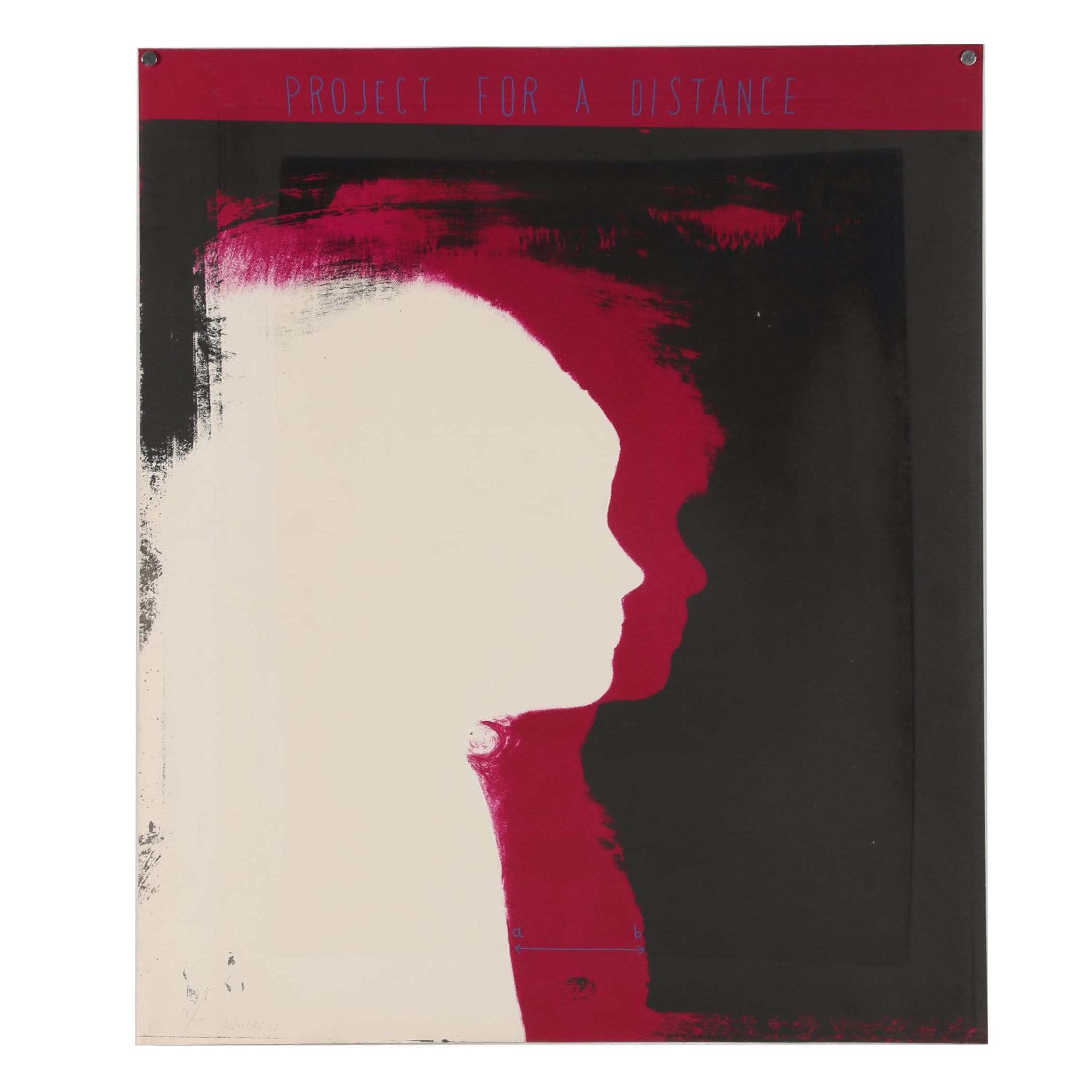 "Piotr Kowalski Color Lithograph ""Project for a Distance"""