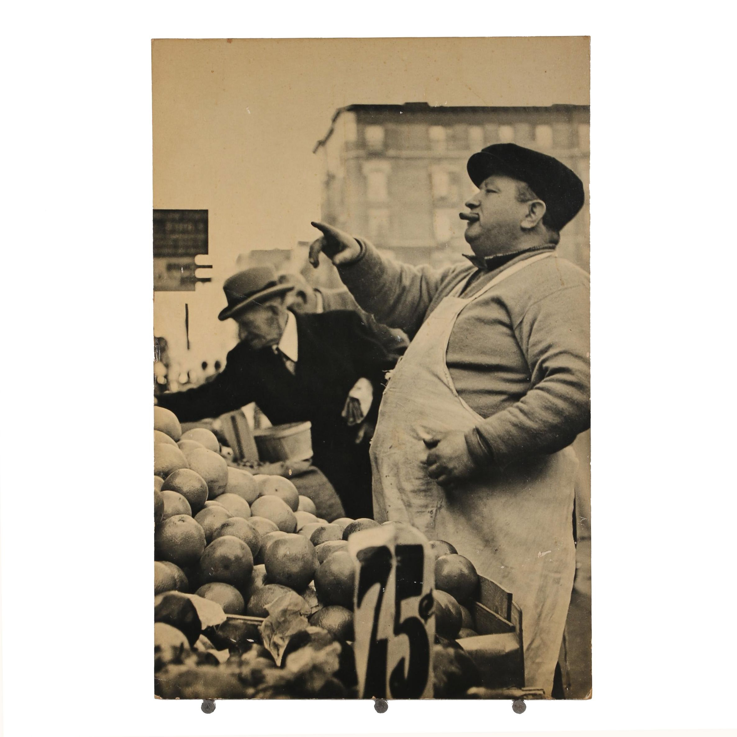 "Offset Lithograph ""Fruit Peddler on Orchard Street"" after Erika Stone"