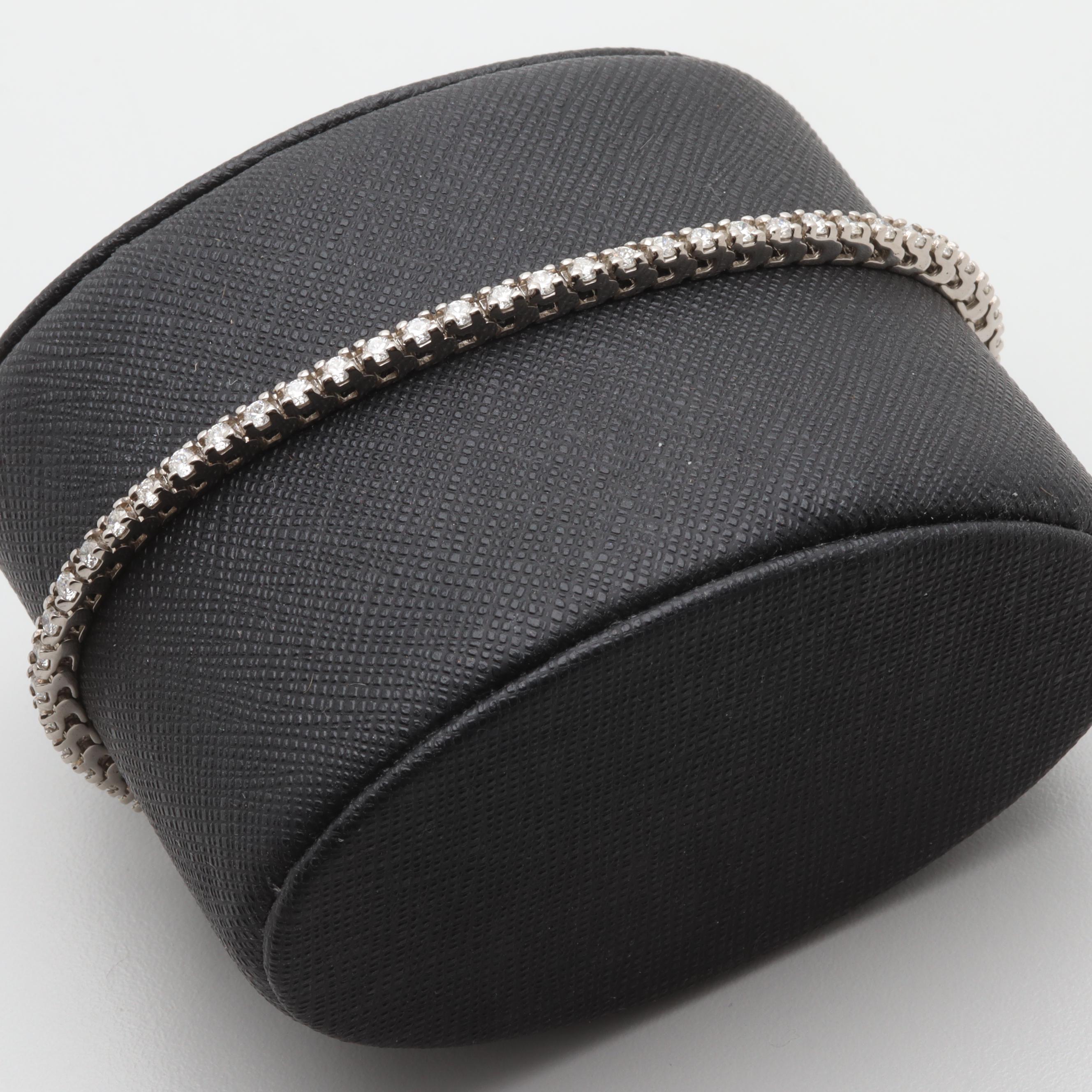 18K White Gold 1.96 CTW Diamond Bracelet