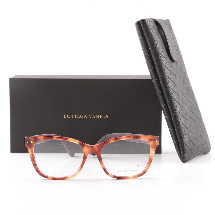 3959ff6129d Bottega Veneta BV0010O 006 Brown Tortoiseshell Style Eyeglasses with Case  ...