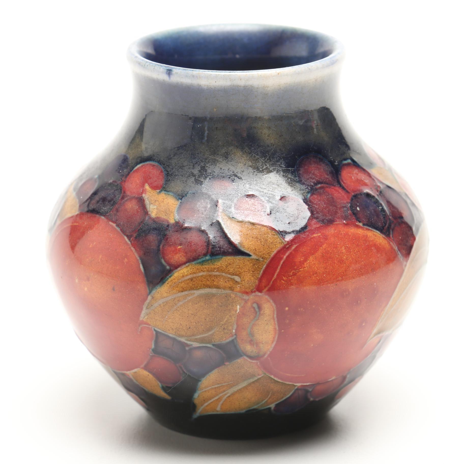 """1920s Moorcroft """"Pomegranate"""" Vase"""