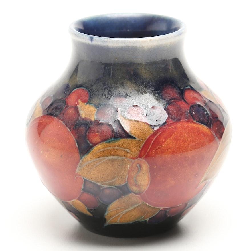 1920s Moorcroft Pomegranate Vase Ebth
