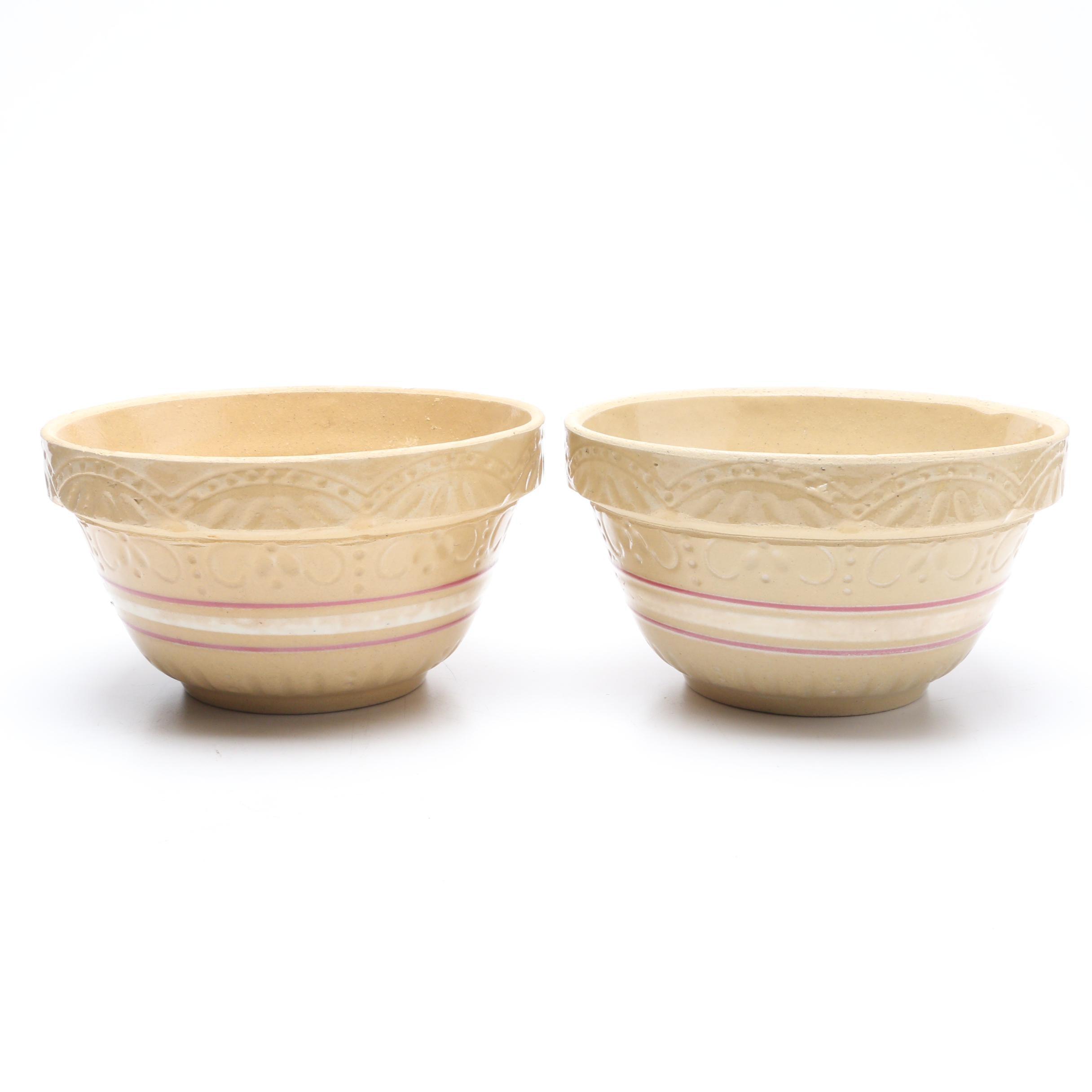Robinson Ransbottom Yellow Ware Bowls